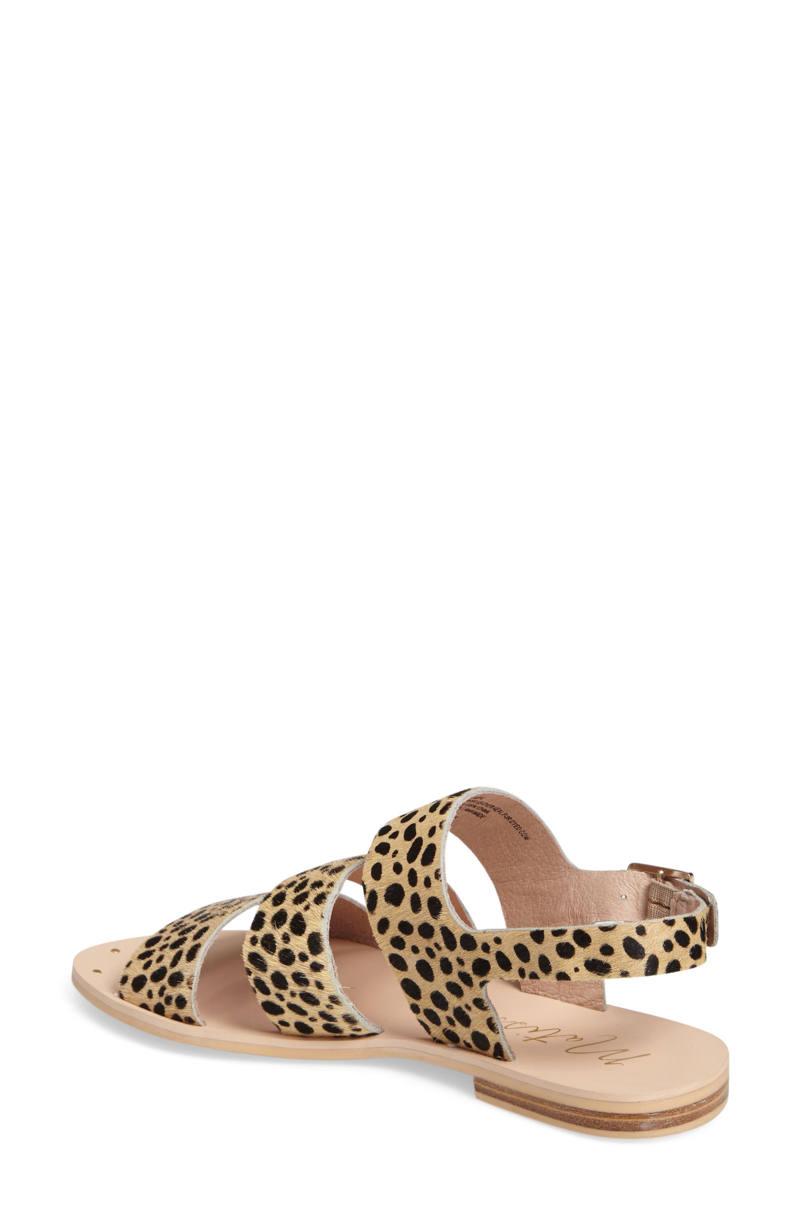 Owen Genuine Calf Hair Sandal,                             Alternate thumbnail 2, color,                             Leopard Calf Hair