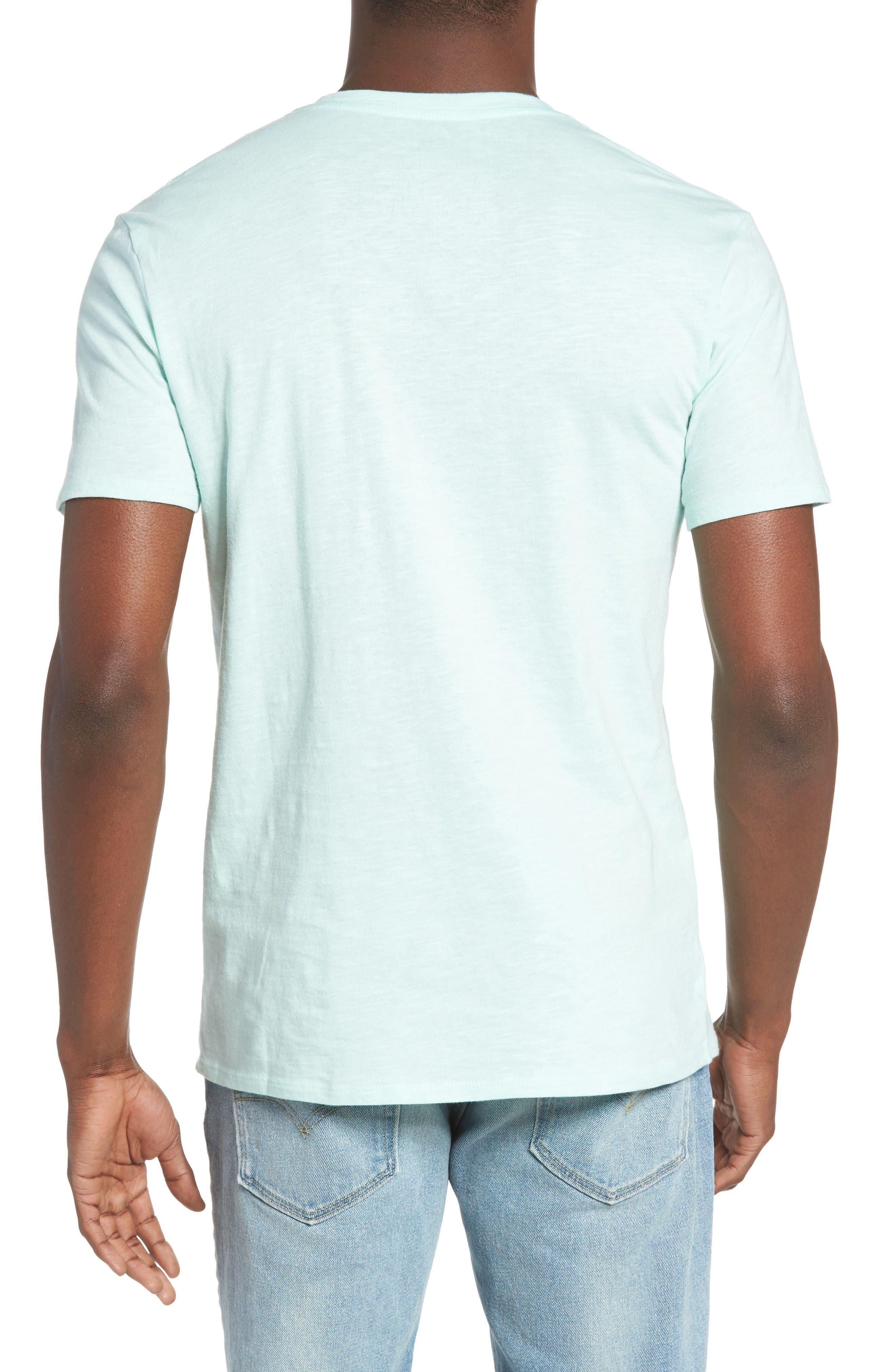 Slub Cotton V-Neck T-Shirt,                             Alternate thumbnail 2, color,                             Olive Grove
