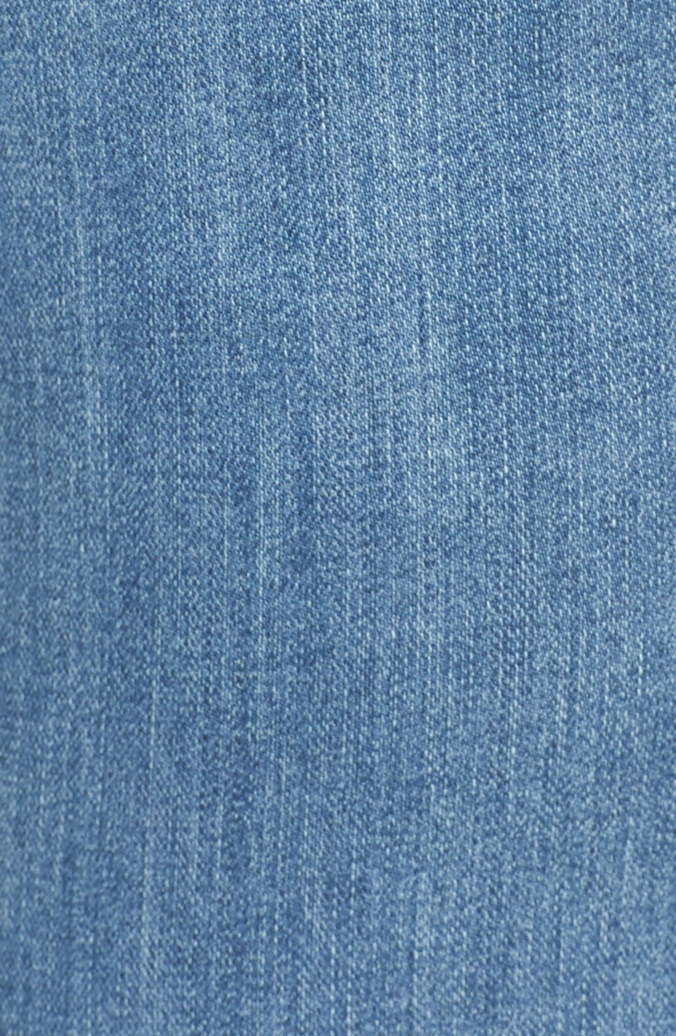 Alternate Image 5  - KUT from the Kloth Reese Stretch Uneven Hem Ankle Skinny Jeans (Participation) (Plus Size)