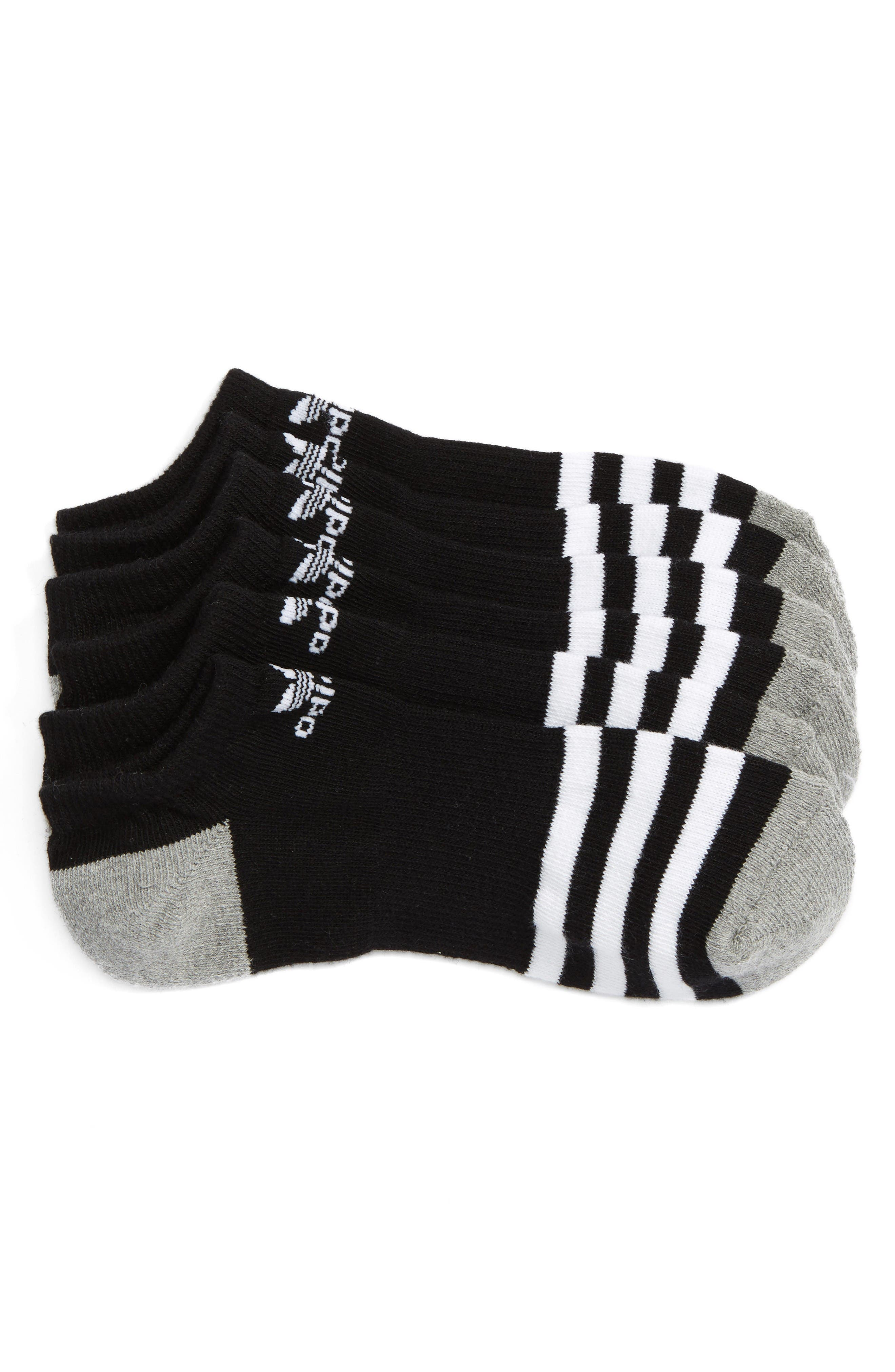 adidas 3-Pack Original Cushioned No-Show Socks (Big Kid)