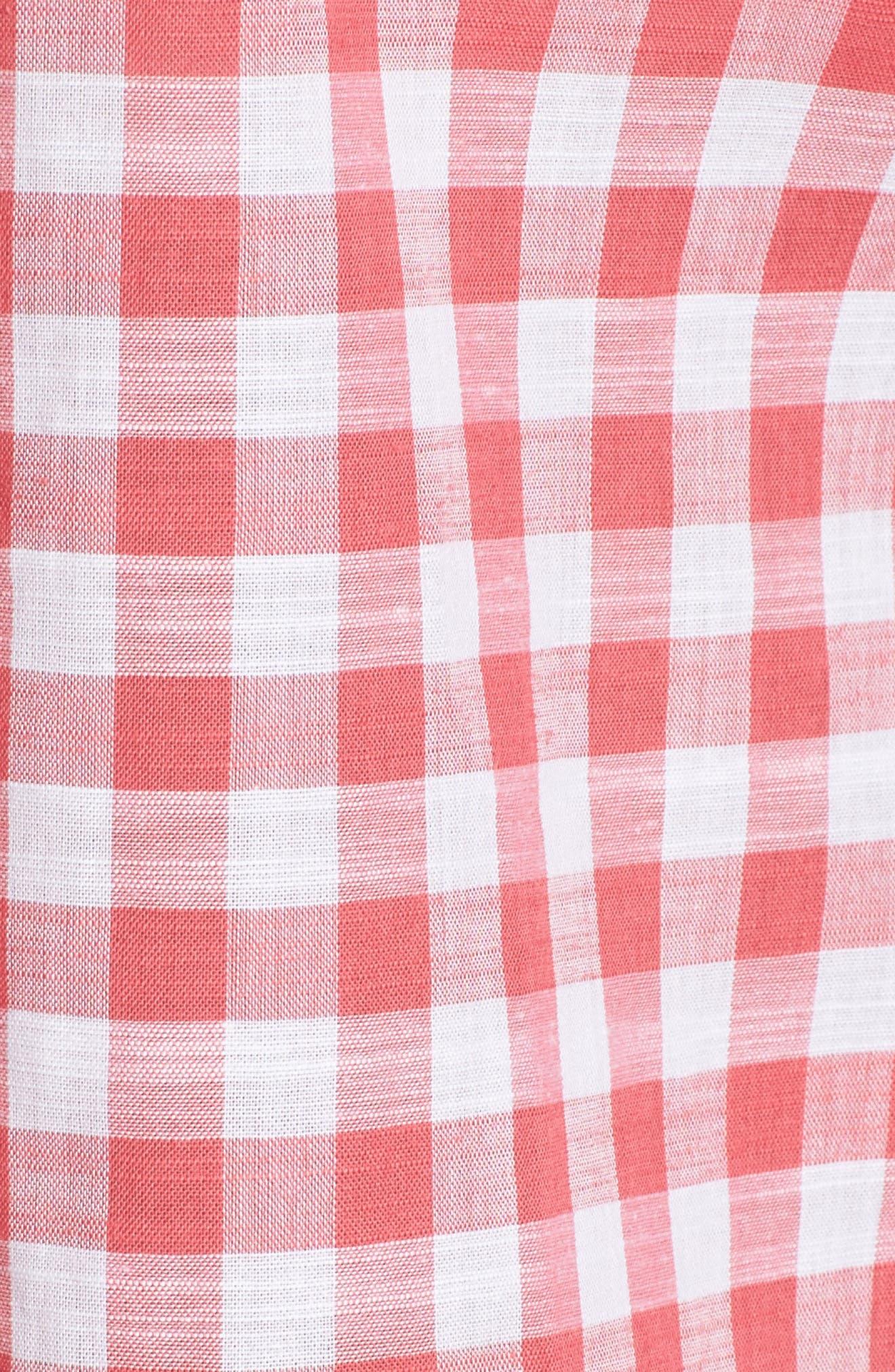 Alternate Image 5  - Foxcroft Gingham Sleeveless Shirt (Regular & Petites)