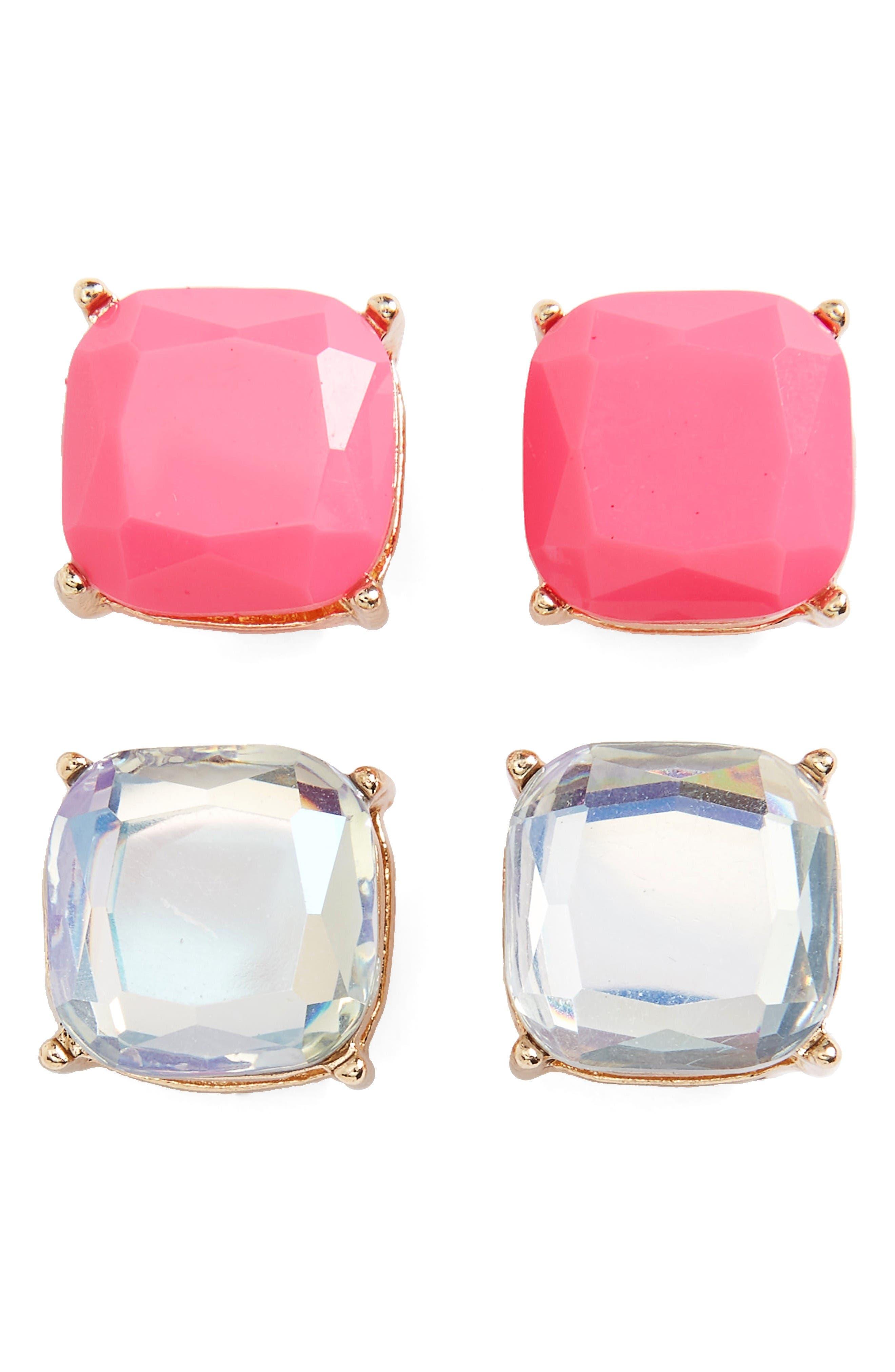 Alternate Image 1 Selected - BP. Square Stud Earrings (Set of 2)