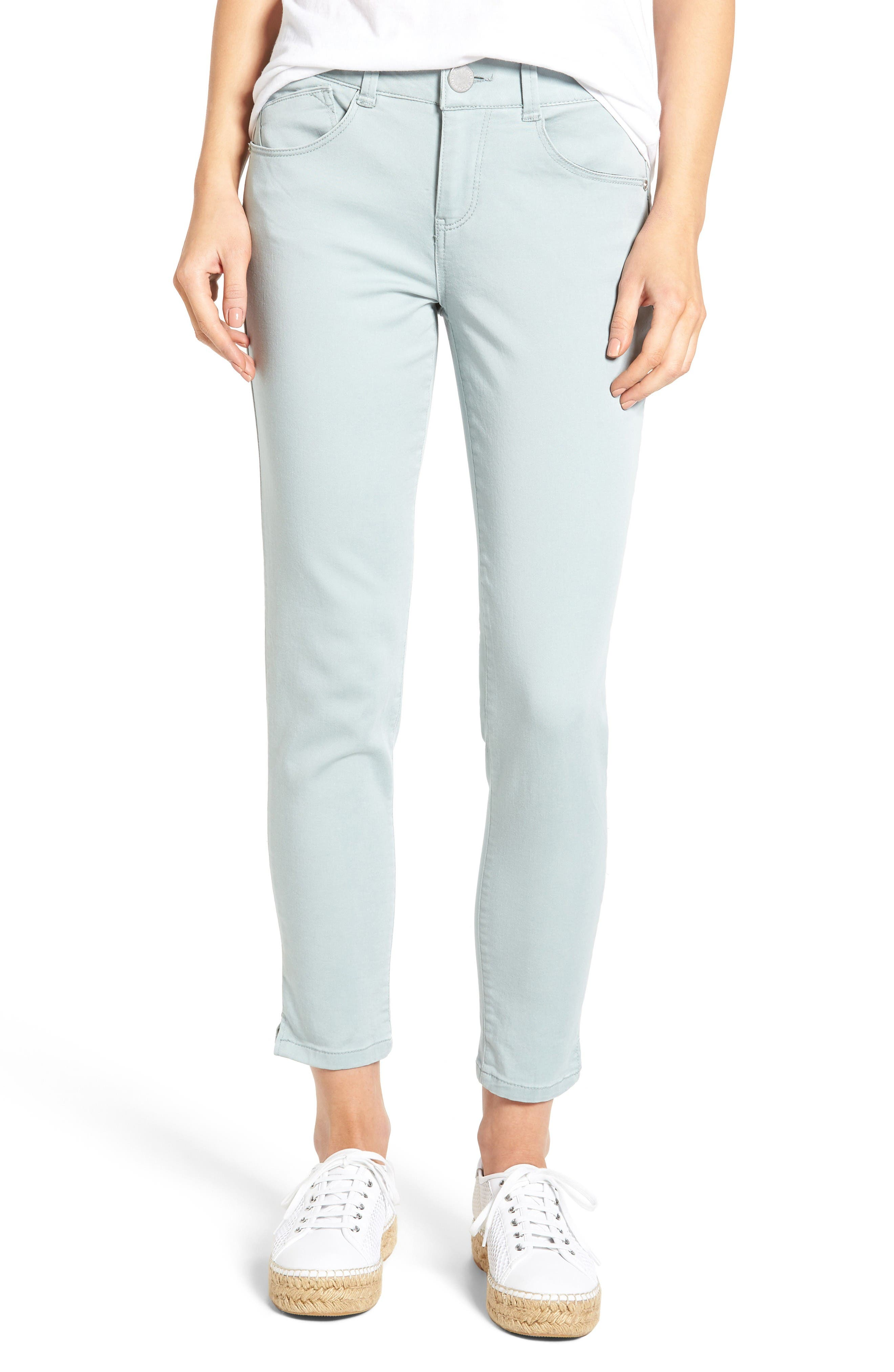 Ab-solution Stretch Twill Skinny Pants,                         Main,                         color, Blue Surf 2