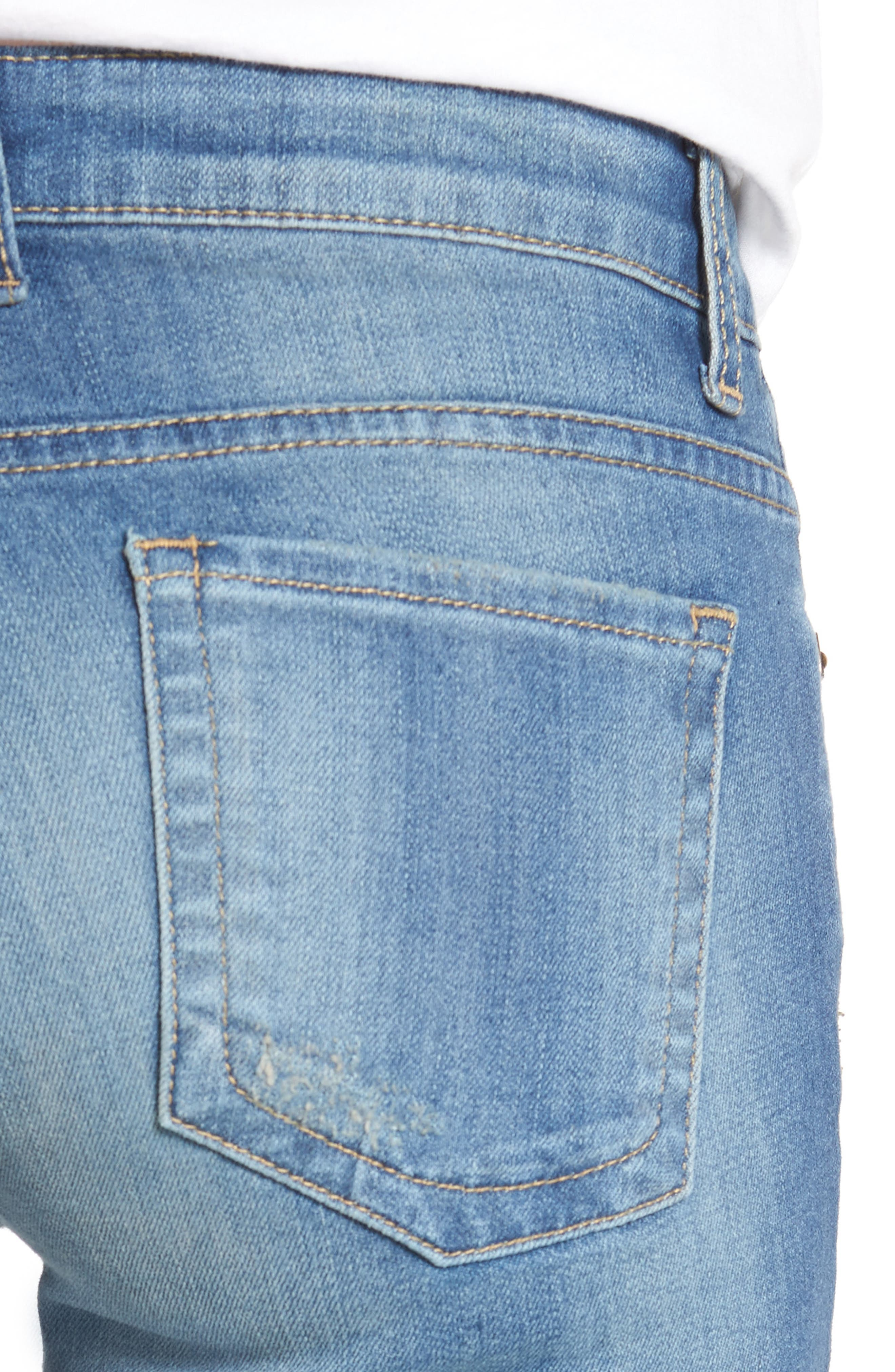 Alternate Image 4  - KUT from the Kloth Catherine Distressed Boyfriend Jeans (Fiery) (Regular & Petite)