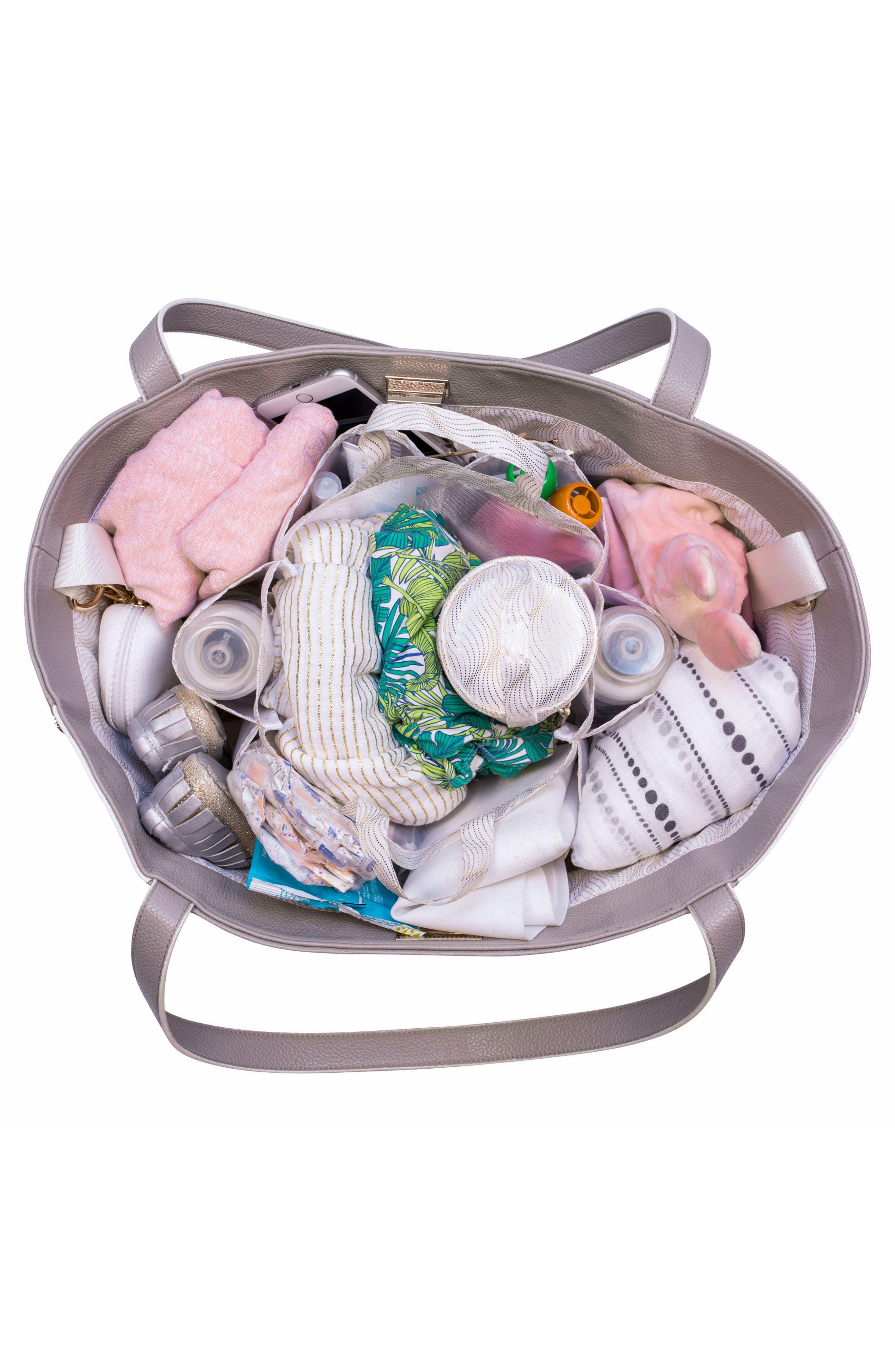 Sloane Diaper Bag,                             Alternate thumbnail 3, color,                             Neutral/ White