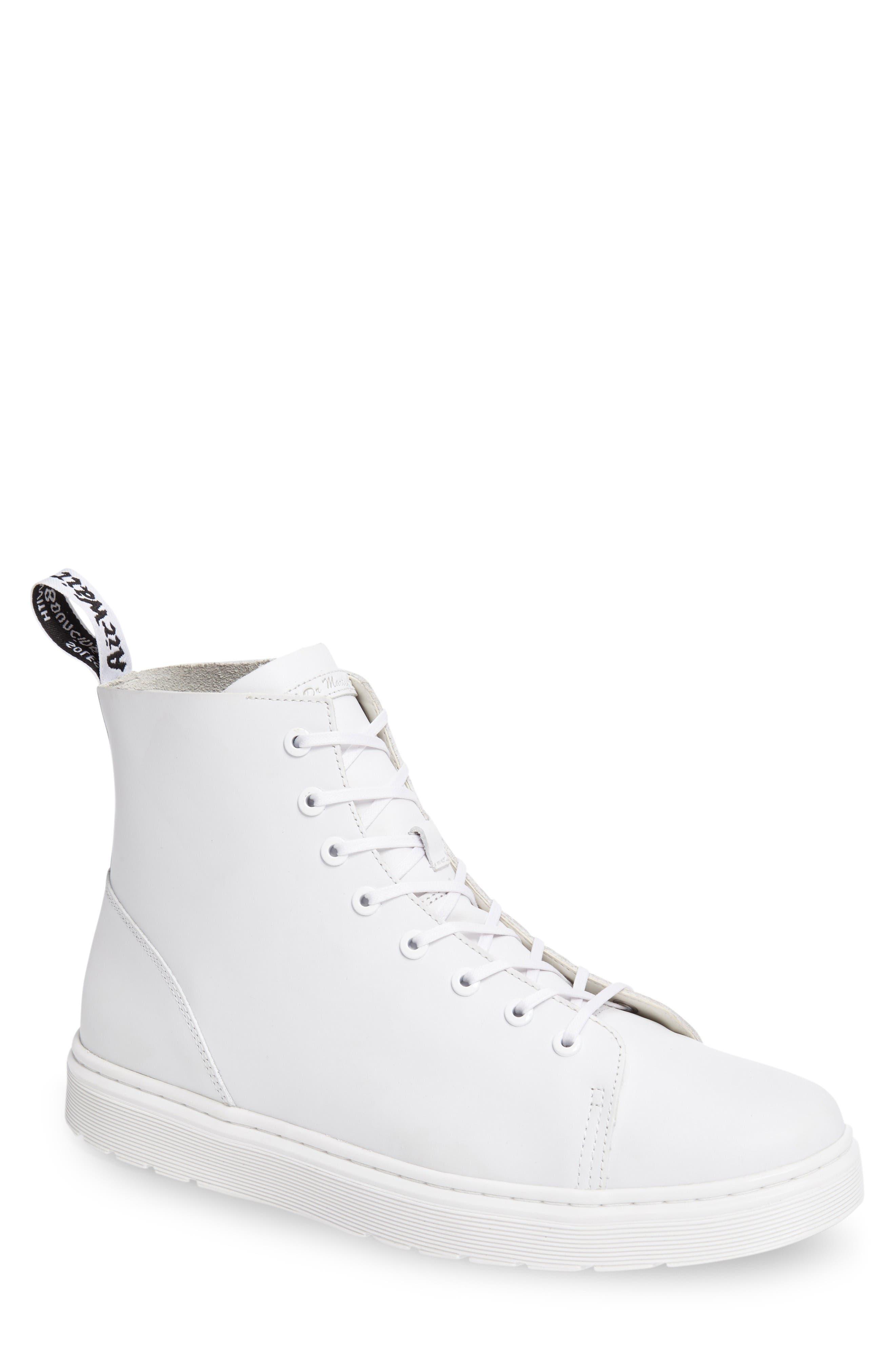 Talib Plain Toe Boot,                         Main,                         color, White Leather