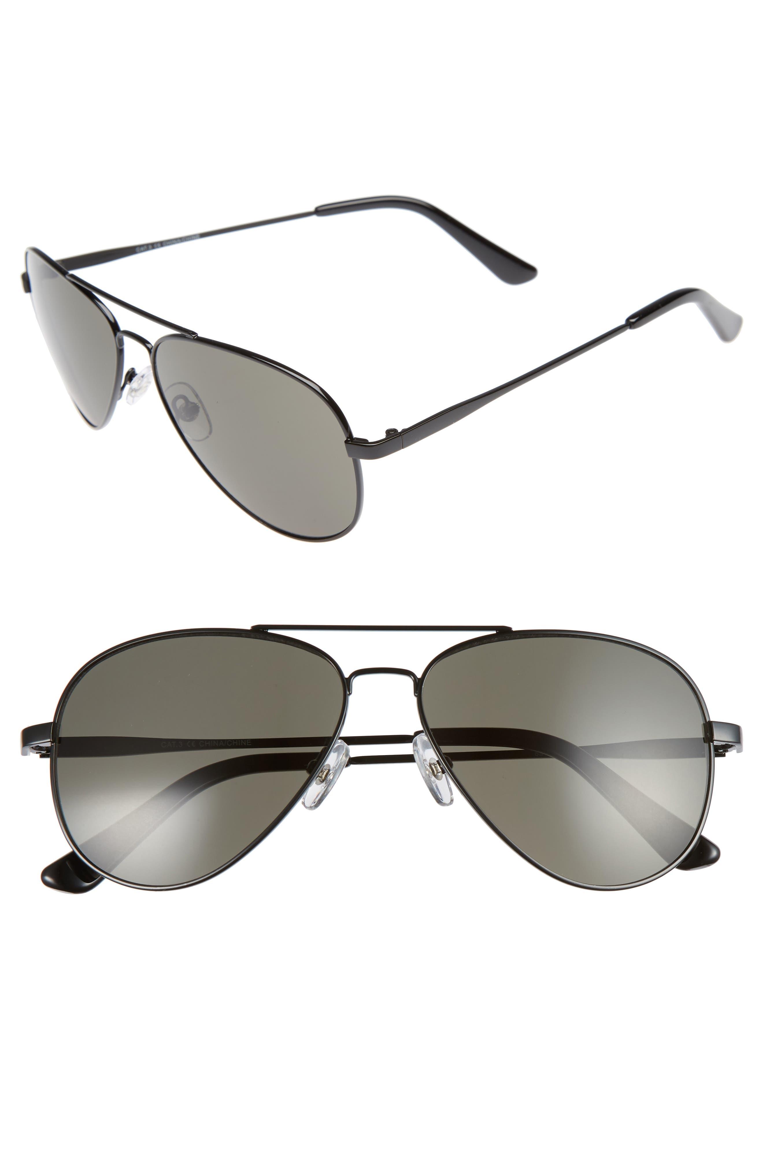 1901 Davis 59mm Aviator Sunglasses