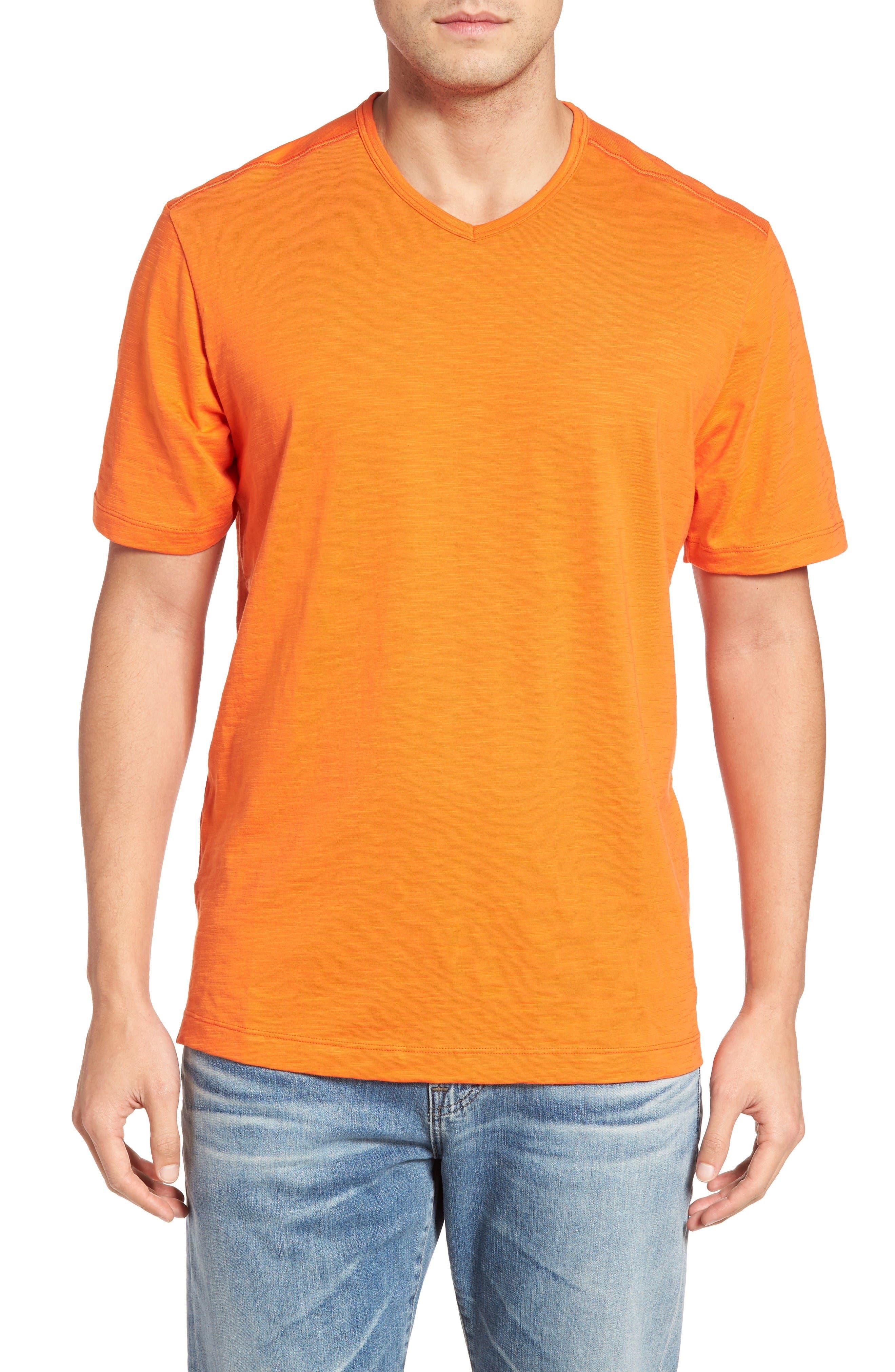 'Portside Player' Pima Cotton T-Shirt,                             Main thumbnail 1, color,                             Citrus Punch