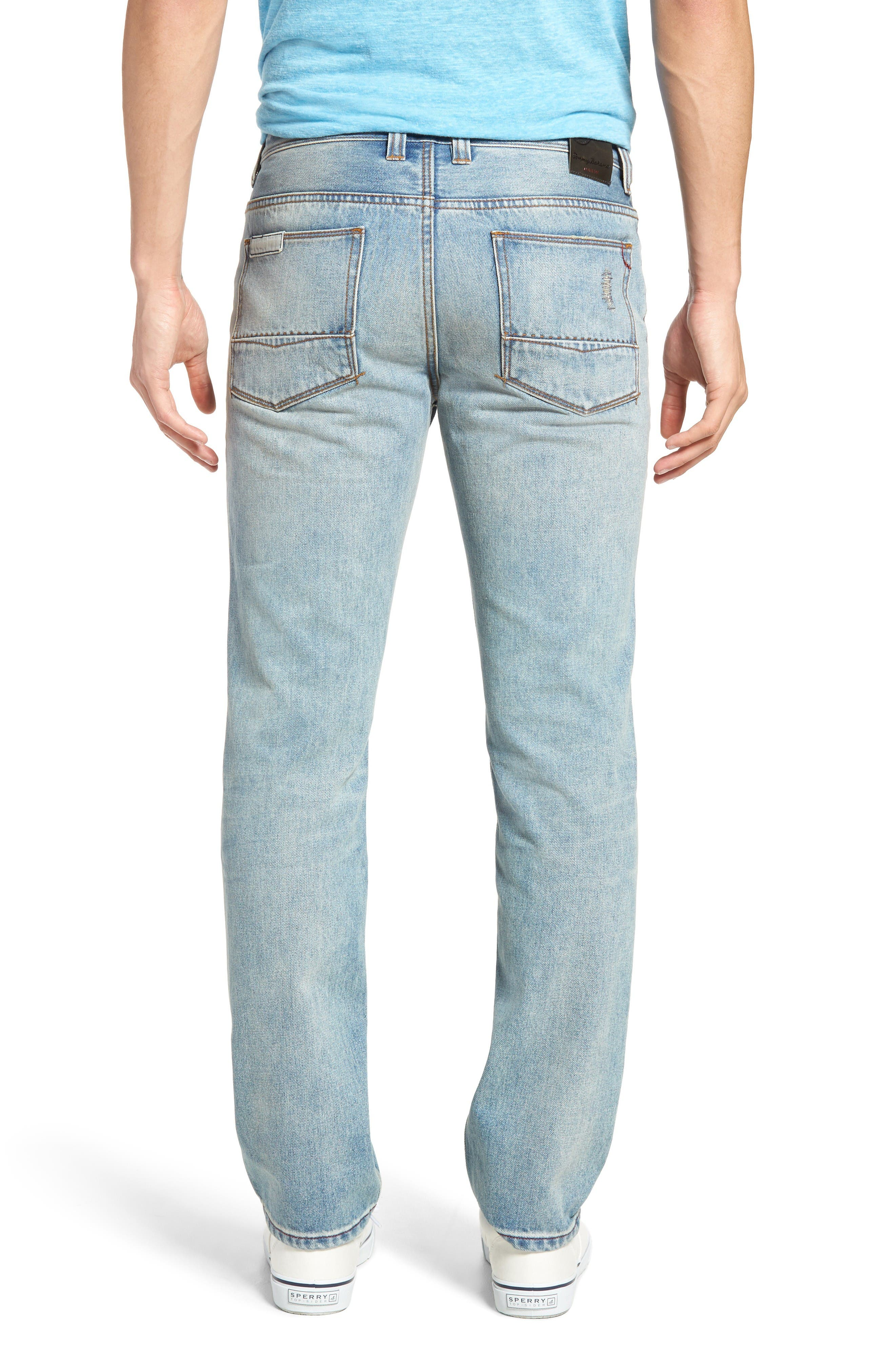 Castaway Slim Fit Jeans,                             Alternate thumbnail 2, color,                             Bleached Vintage Wash