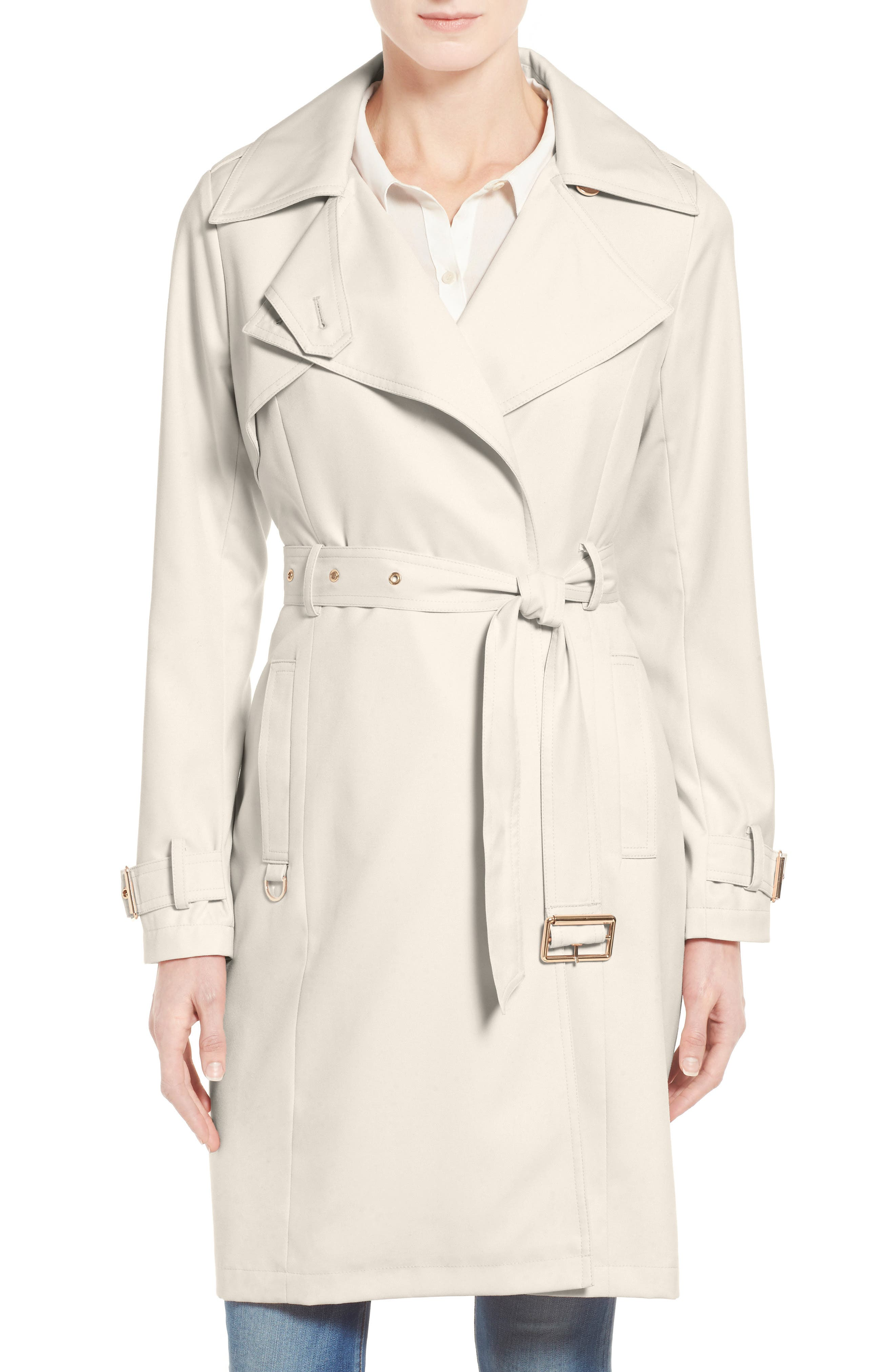 Flowy Belted Trench Coat,                         Main,                         color, African Stone