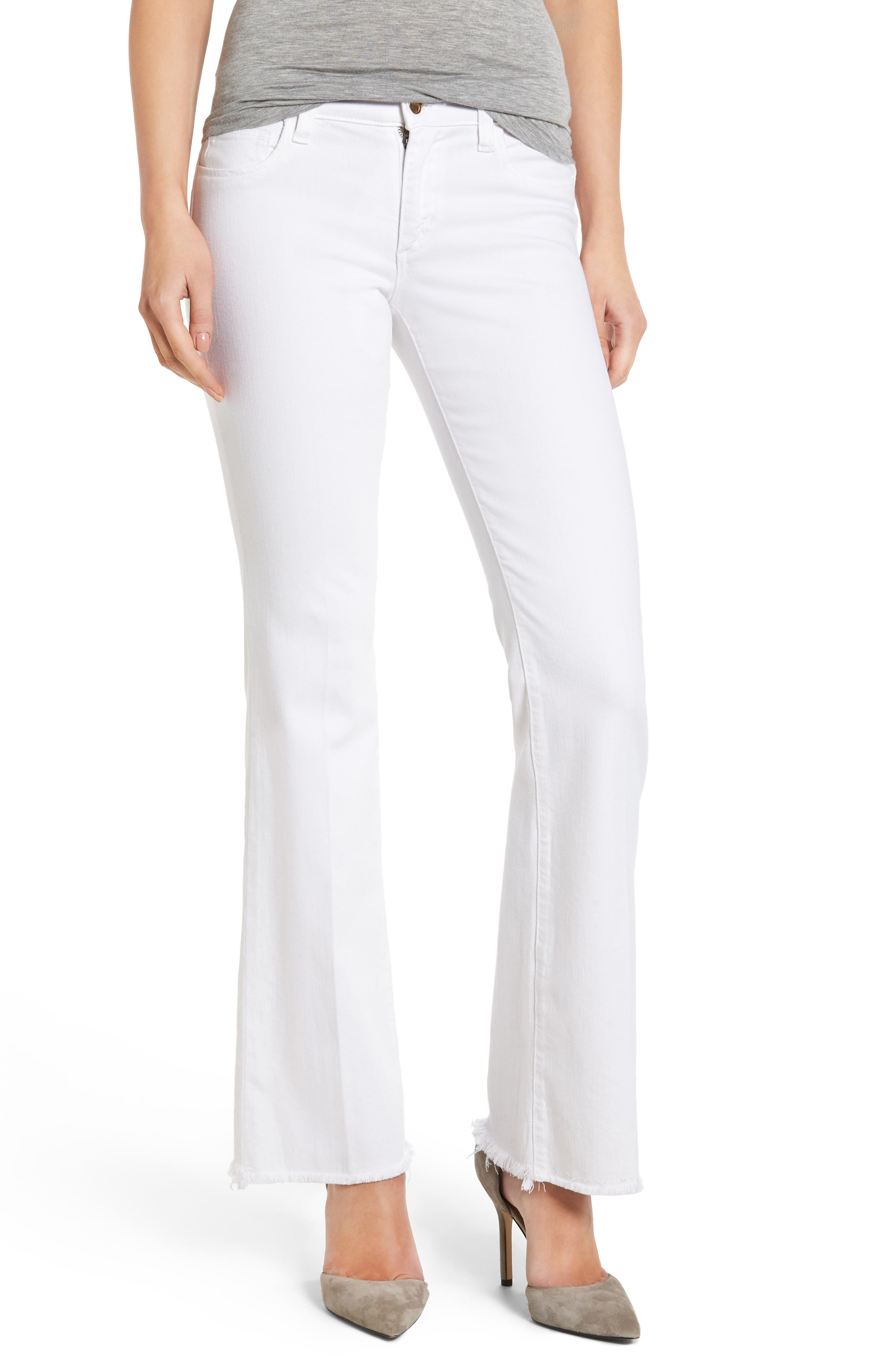 The Provocateur Raw Hem Bootcut Jeans,                         Main,                         color, Hennie
