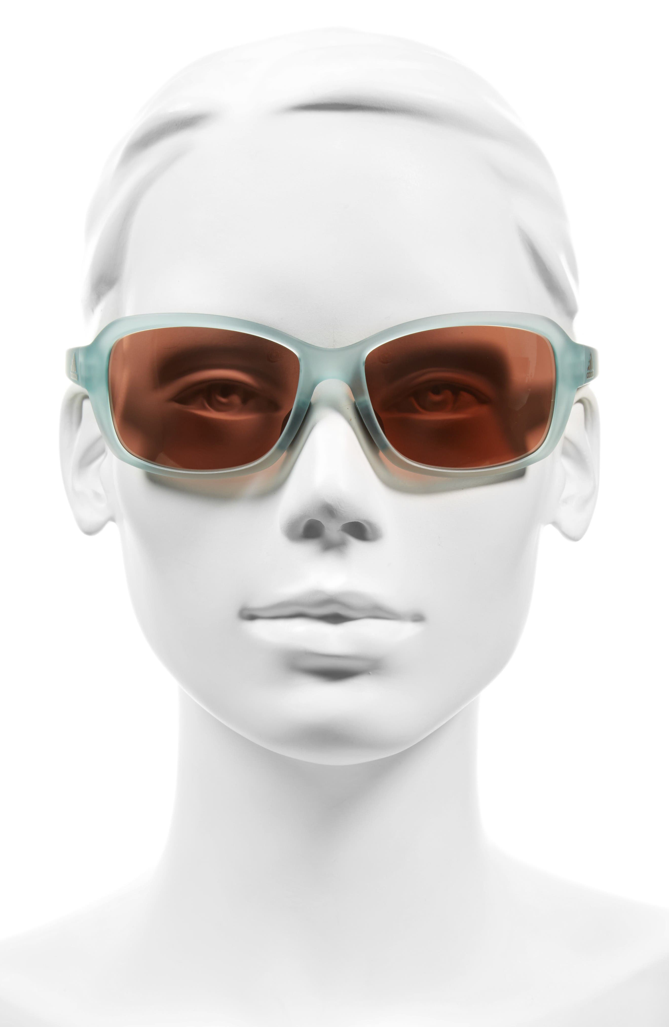 Baboa 58mm Sunglasses,                             Alternate thumbnail 2, color,                             Mint Green/ Taupe