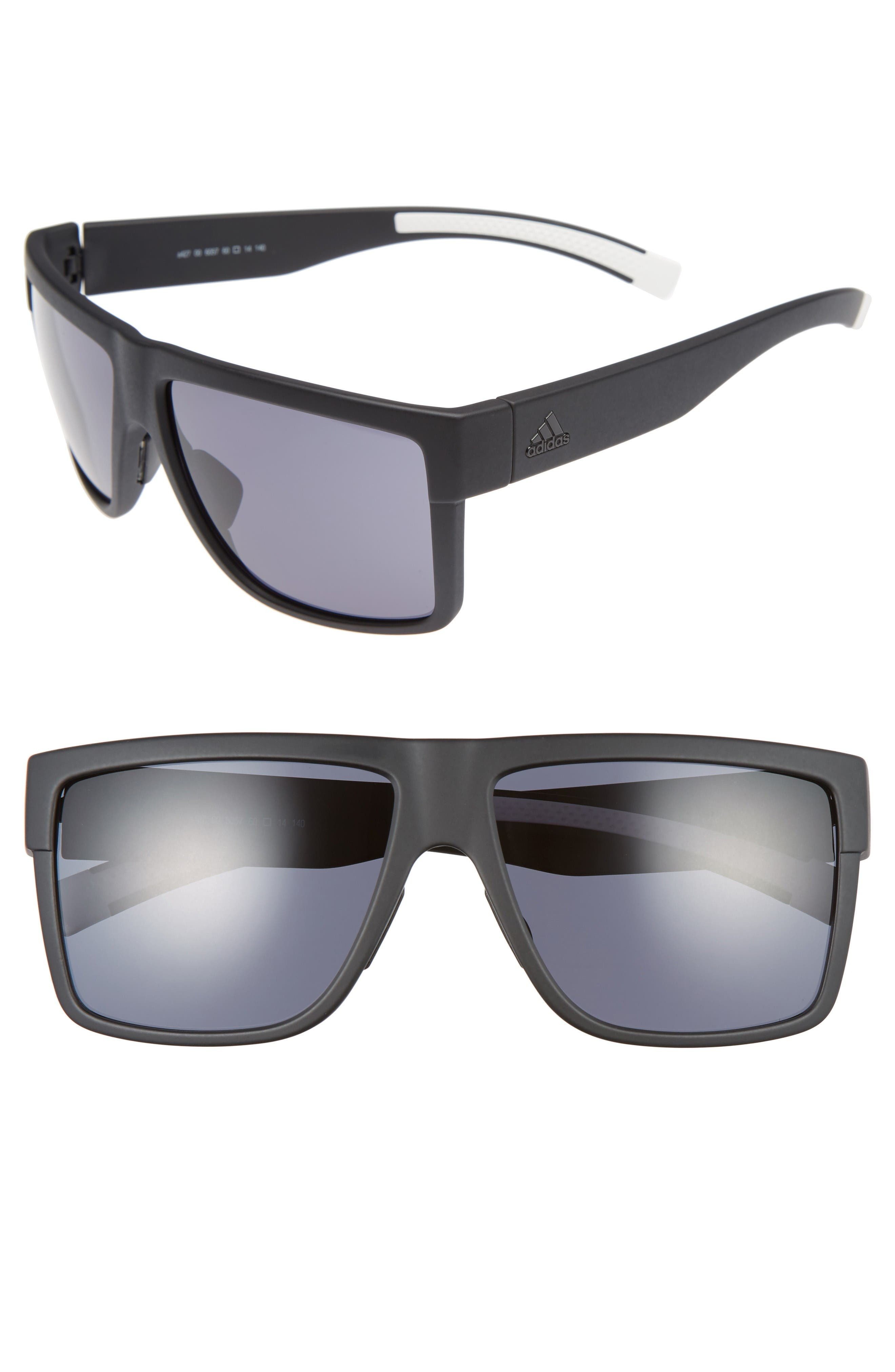 3Matic 60mm Sunglasses,                             Main thumbnail 1, color,                             Black Matte/ Grey