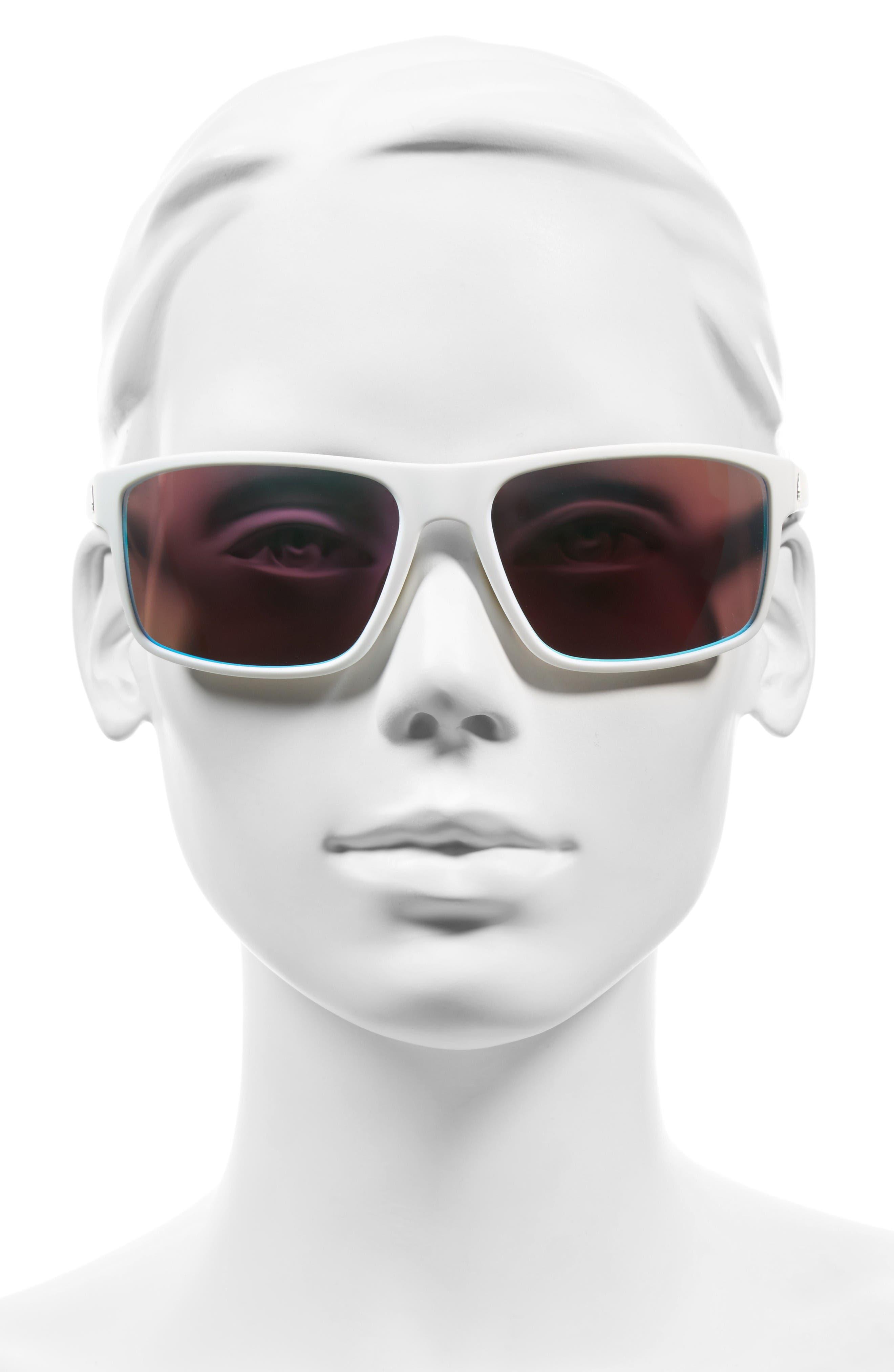Whipstart 61mm Sunglasses,                             Alternate thumbnail 2, color,                             White/ Blue Mirror
