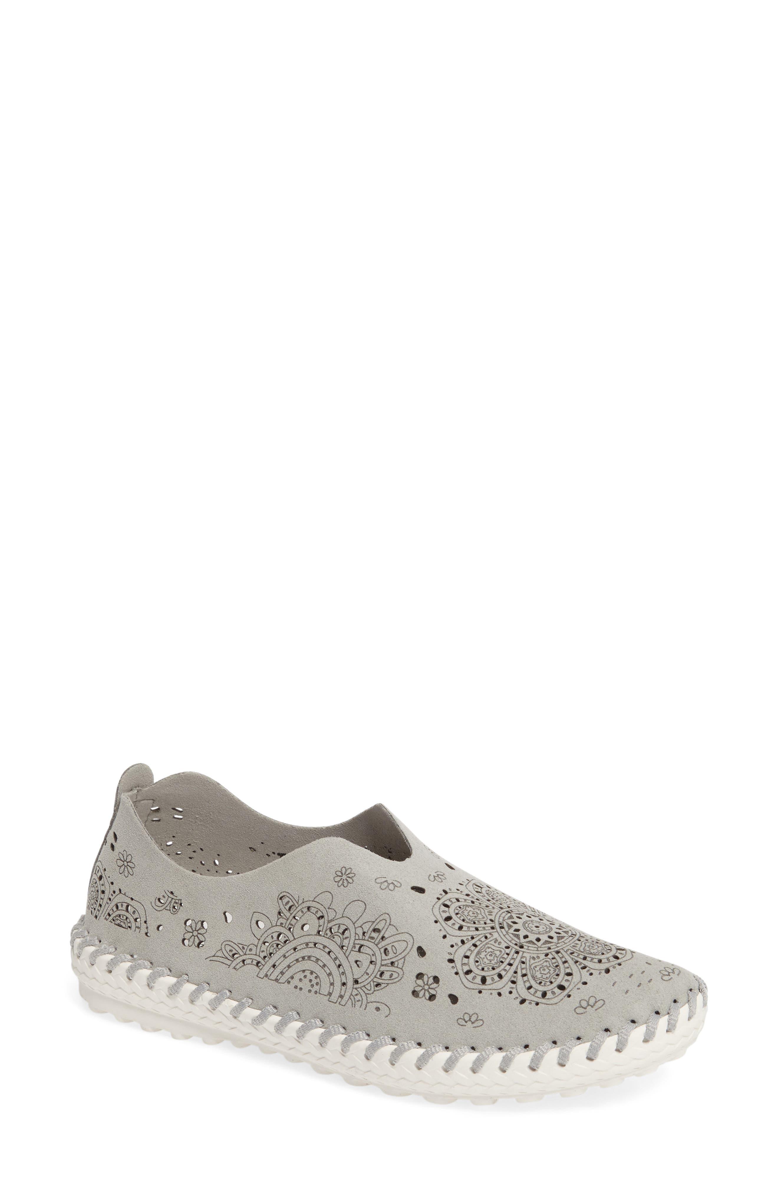 TW09 Slip-On Sneaker,                             Main thumbnail 1, color,                             Light Grey Leather
