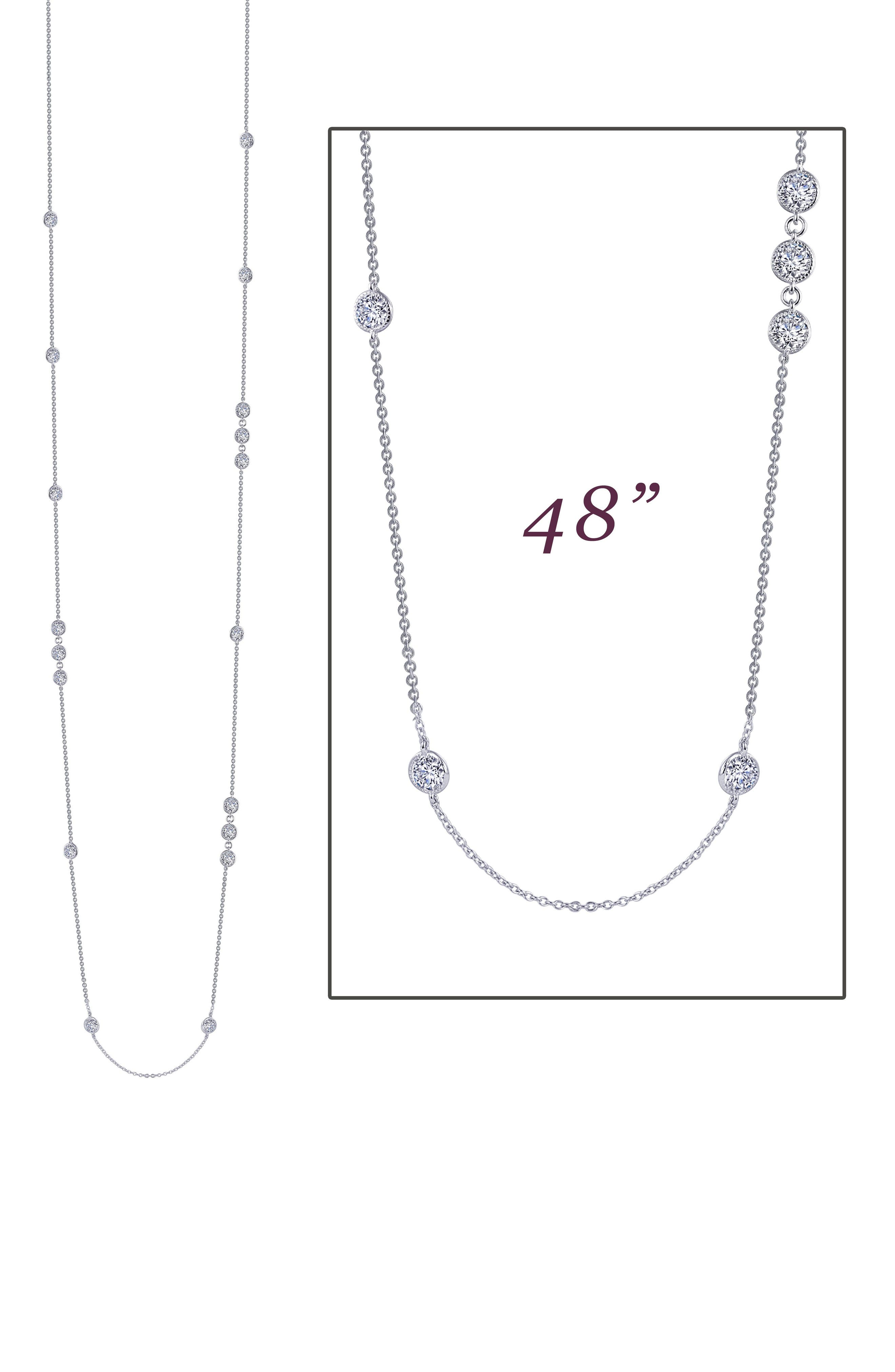 Station Necklace,                             Alternate thumbnail 3, color,                             Silver