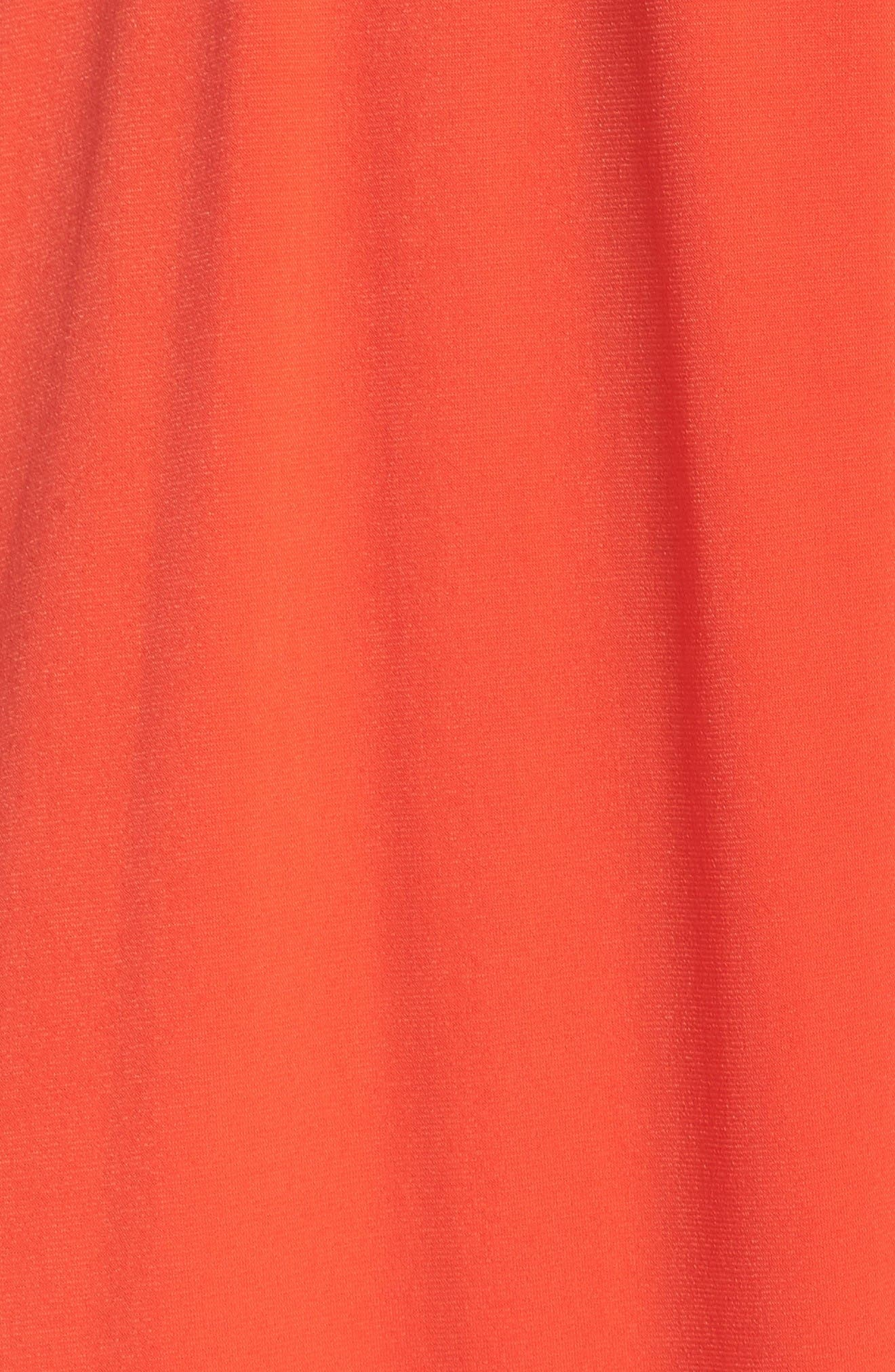 Midi Dress,                             Alternate thumbnail 6, color,                             Poppy