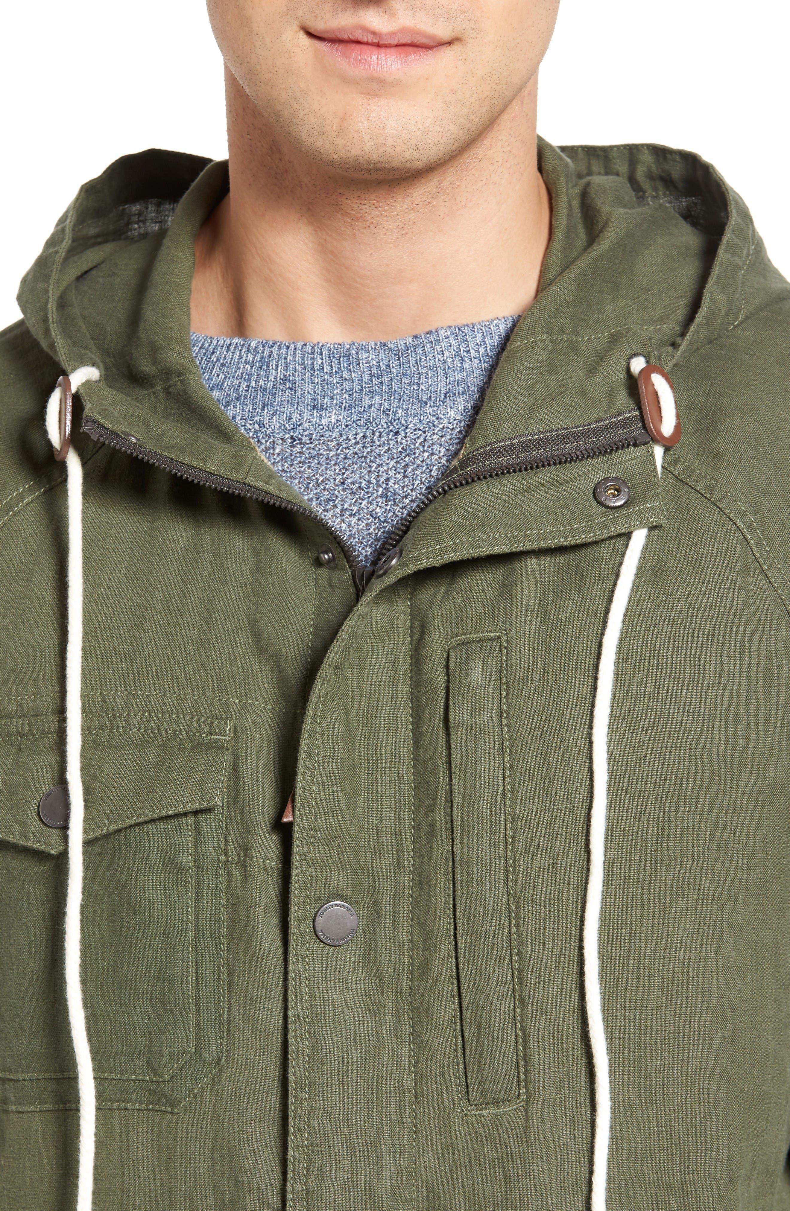 Alternate Image 4  - Tommy Bahama Harbor Linen Hooded Jacket