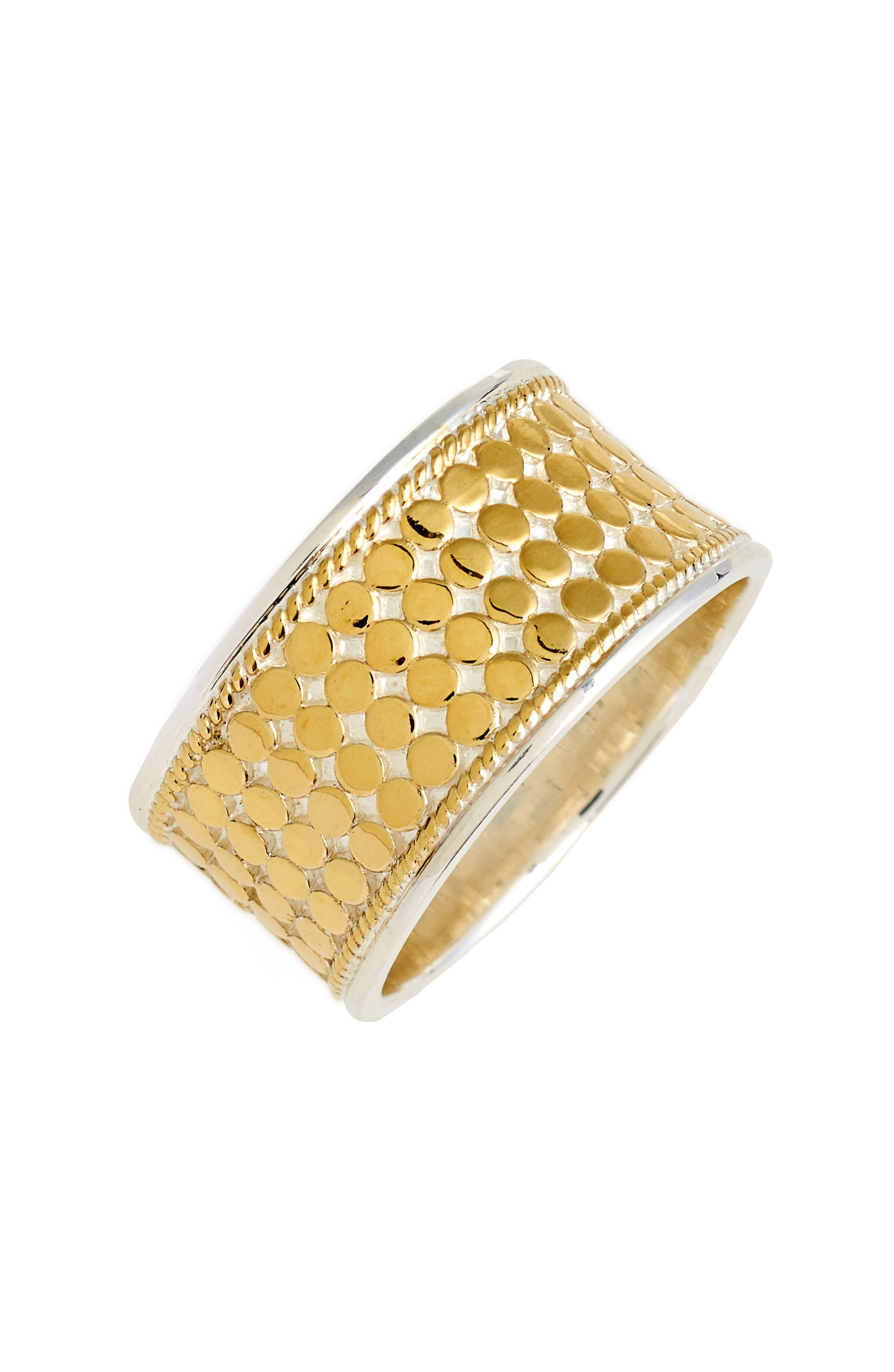 Vermeil Cigar Band Ring,                             Main thumbnail 1, color,                             Gold