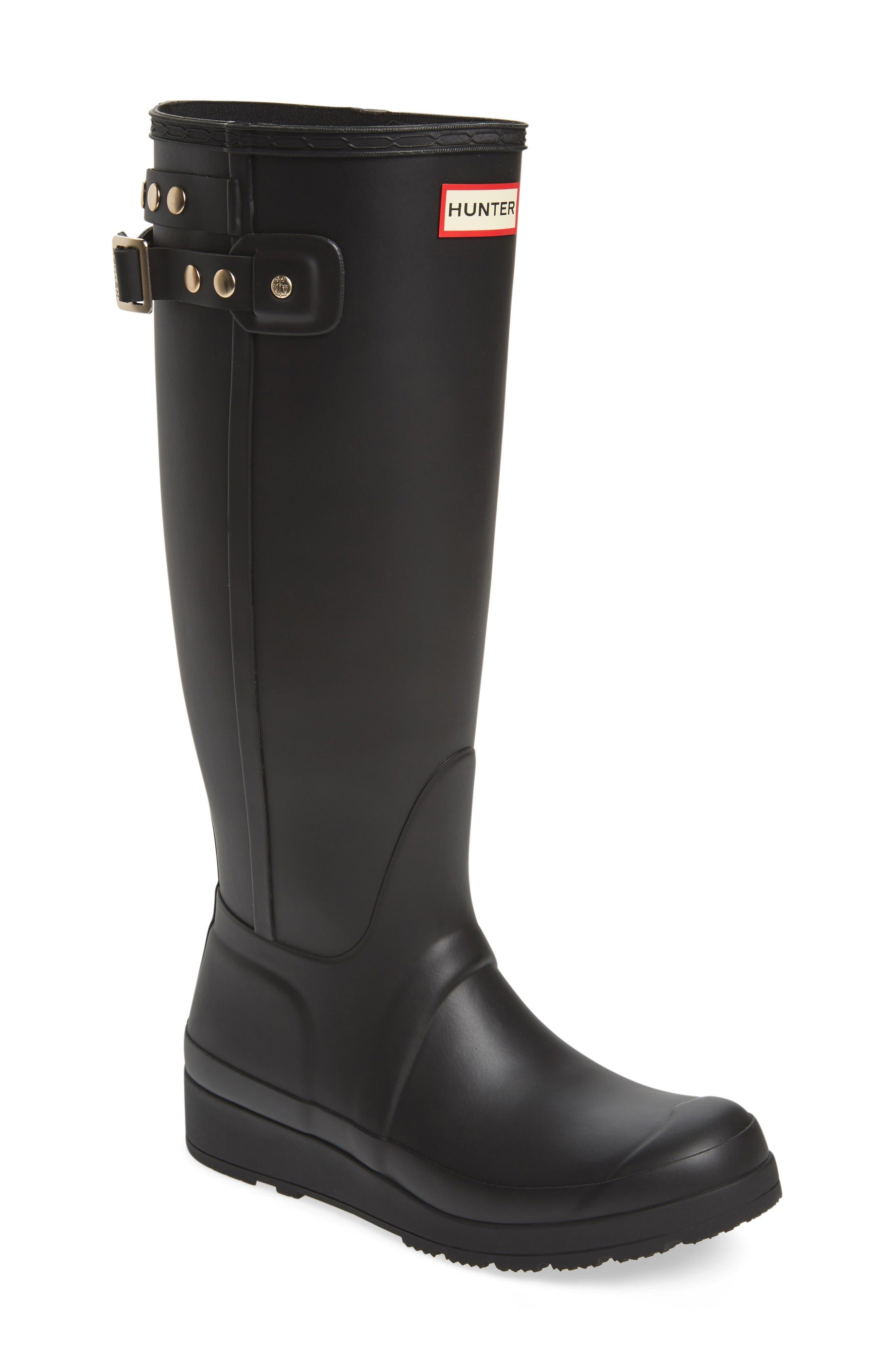 Main Image - Hunter Original Tall Studded Wedge Rain Boot (Women)