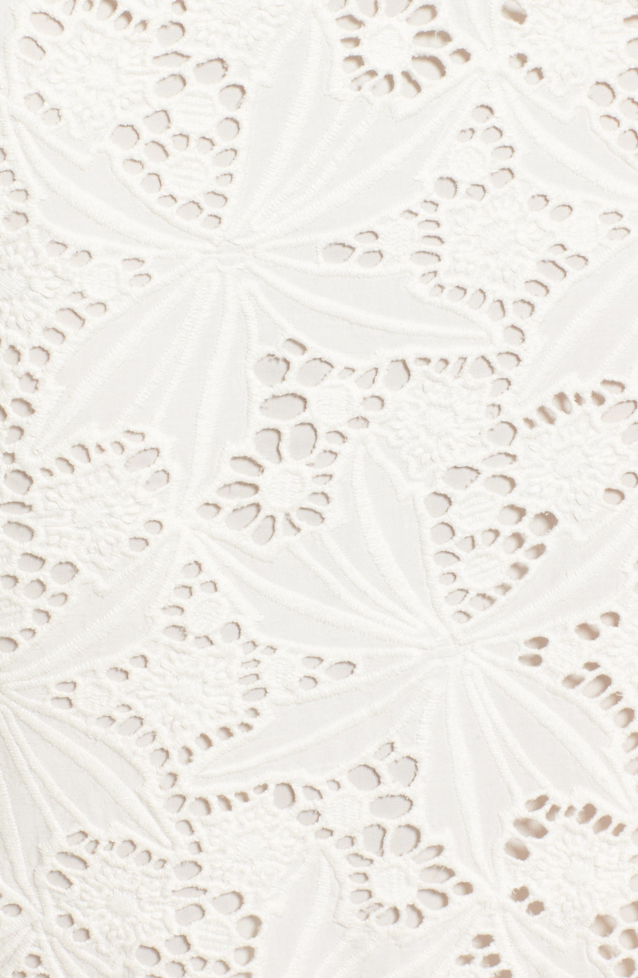 Alternate Image 6  - Halogen® Scalloped Lace Pencil Skirt (Regular & Petite)
