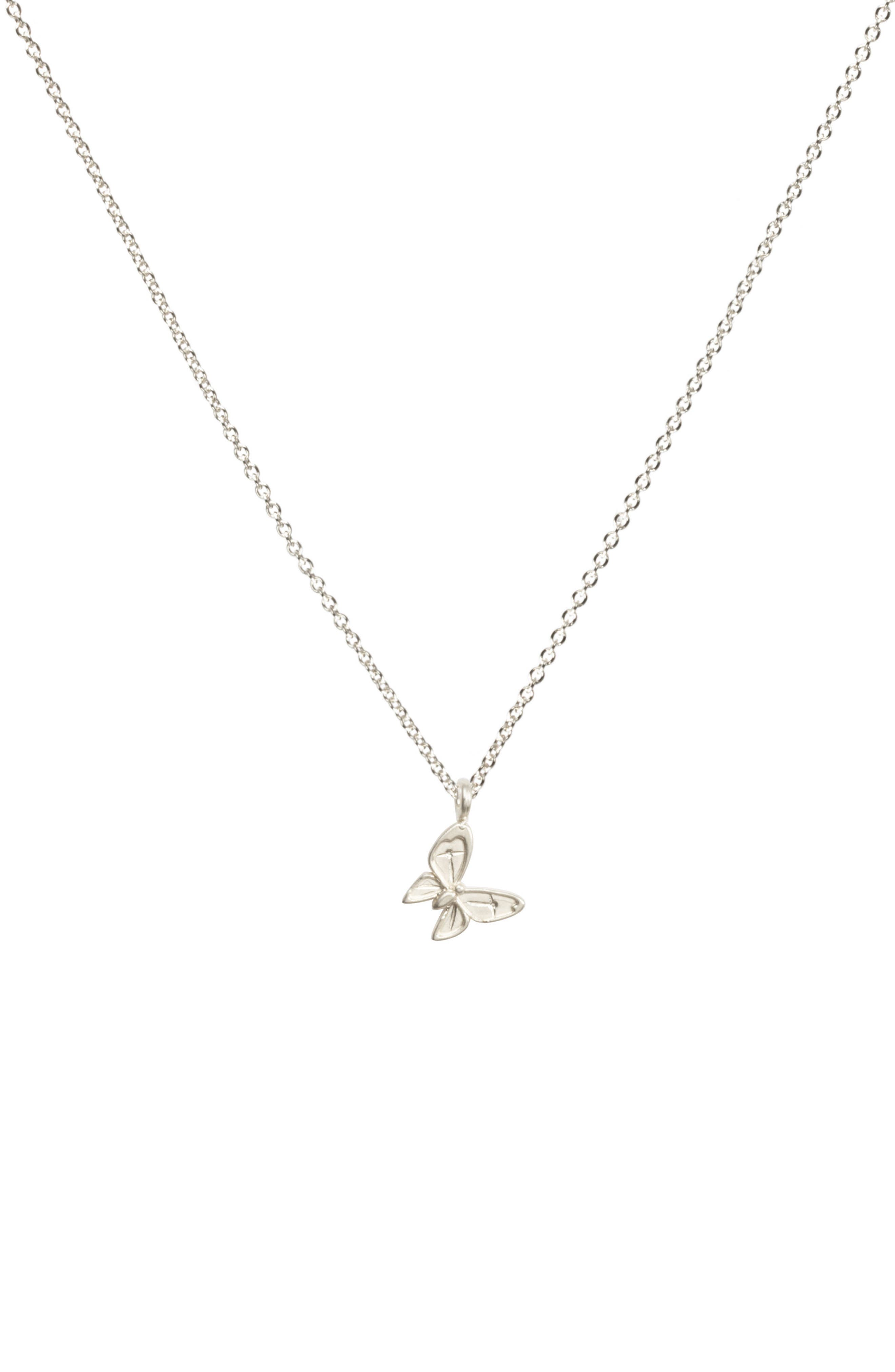 Dogeared Butterfly Pendant Necklace