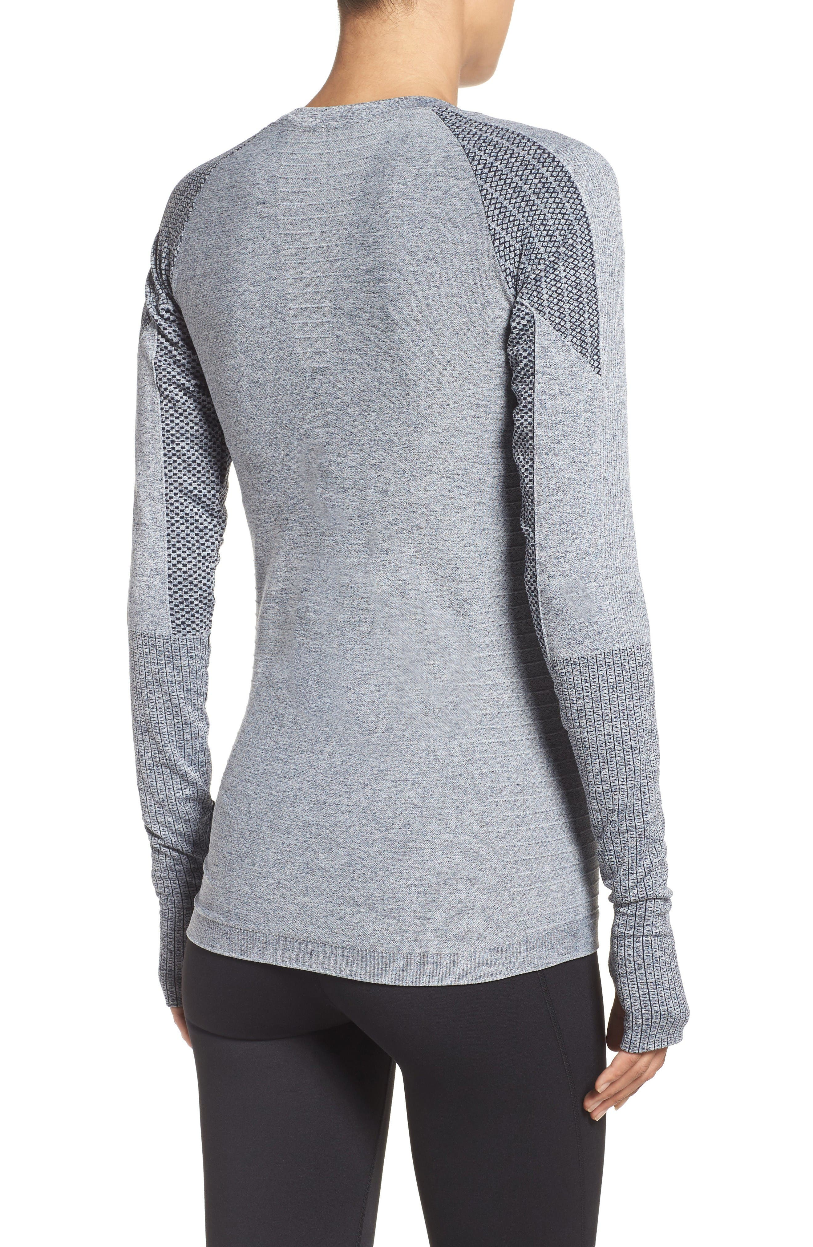 Dynamic Running Top,                             Alternate thumbnail 2, color,                             Grey/ White Melange