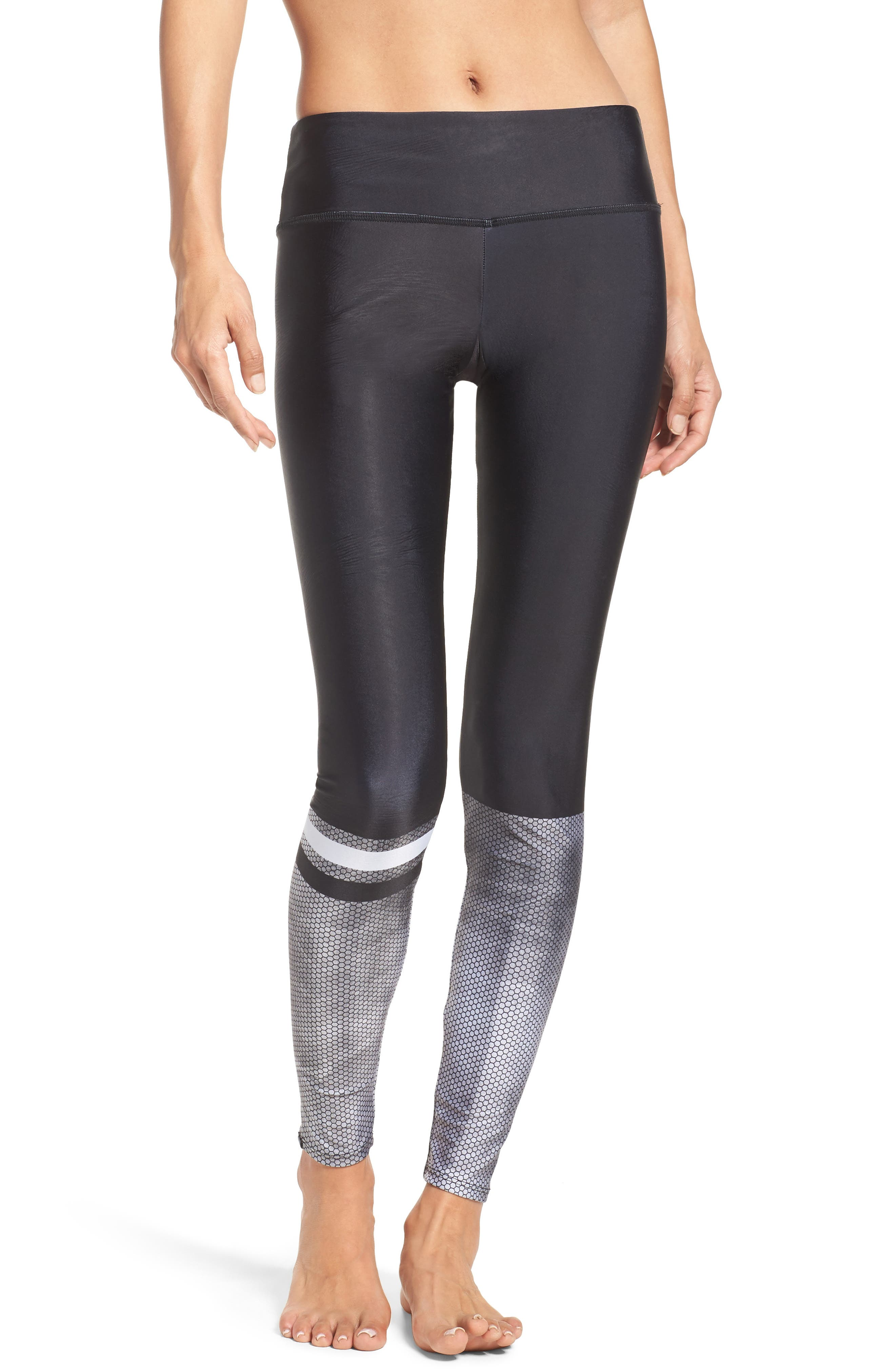 Graphic Long Leggings,                         Main,                         color, Hex