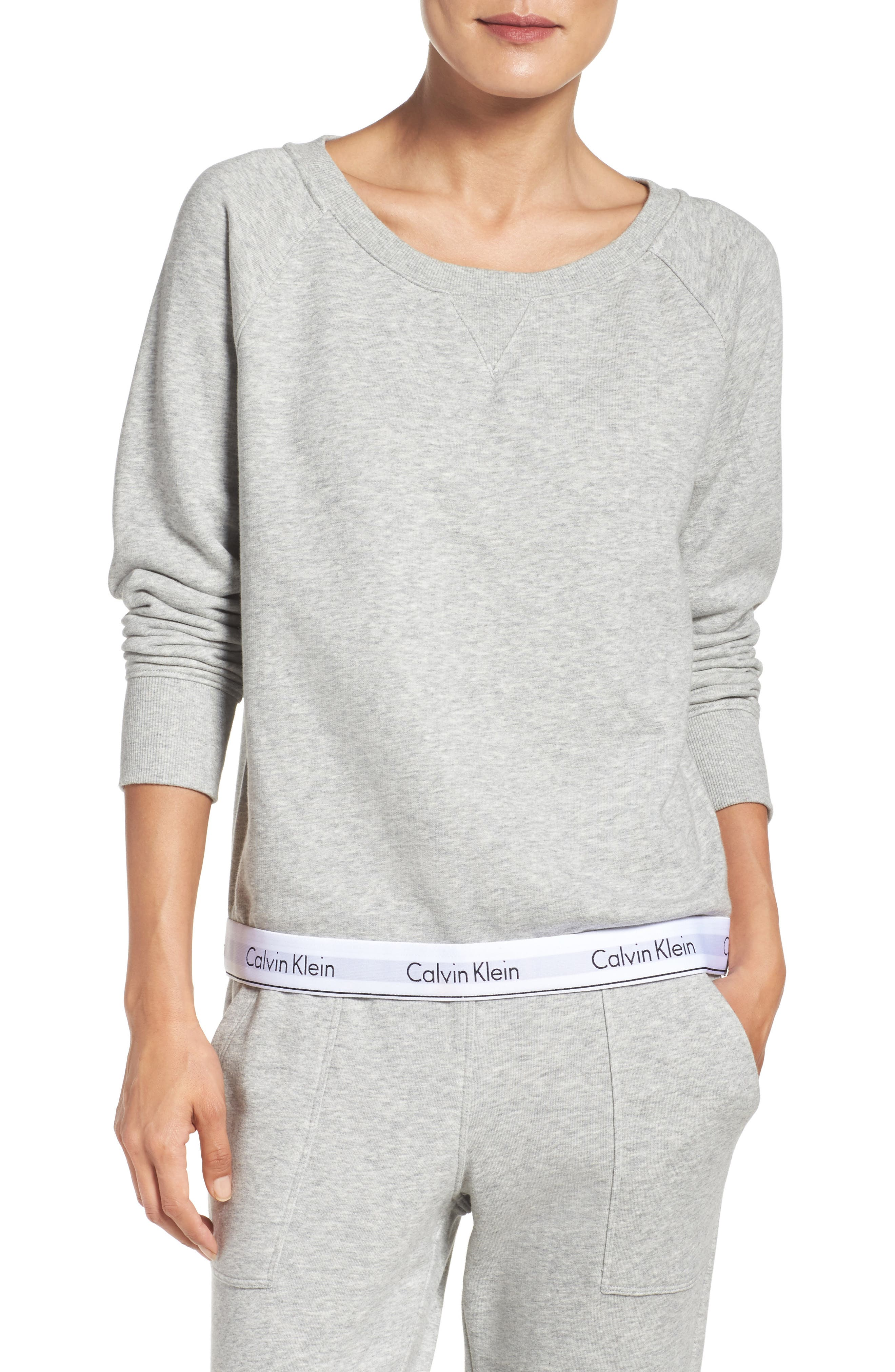 Alternate Image 1 Selected - Calvin Klein Lounge Sweatshirt
