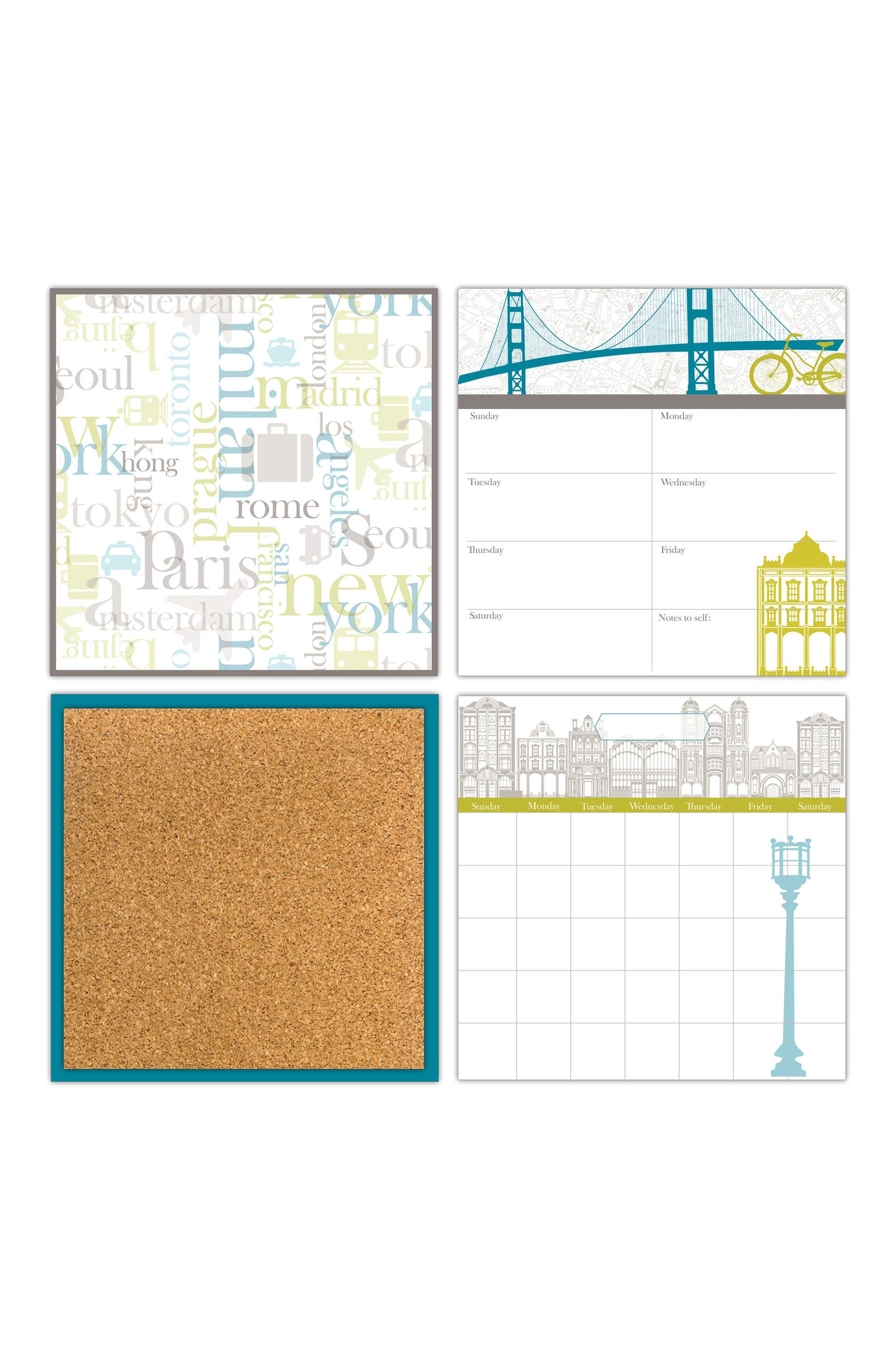 Globe Trotter Organization Decal Kit,                             Main thumbnail 1, color,                             Blue