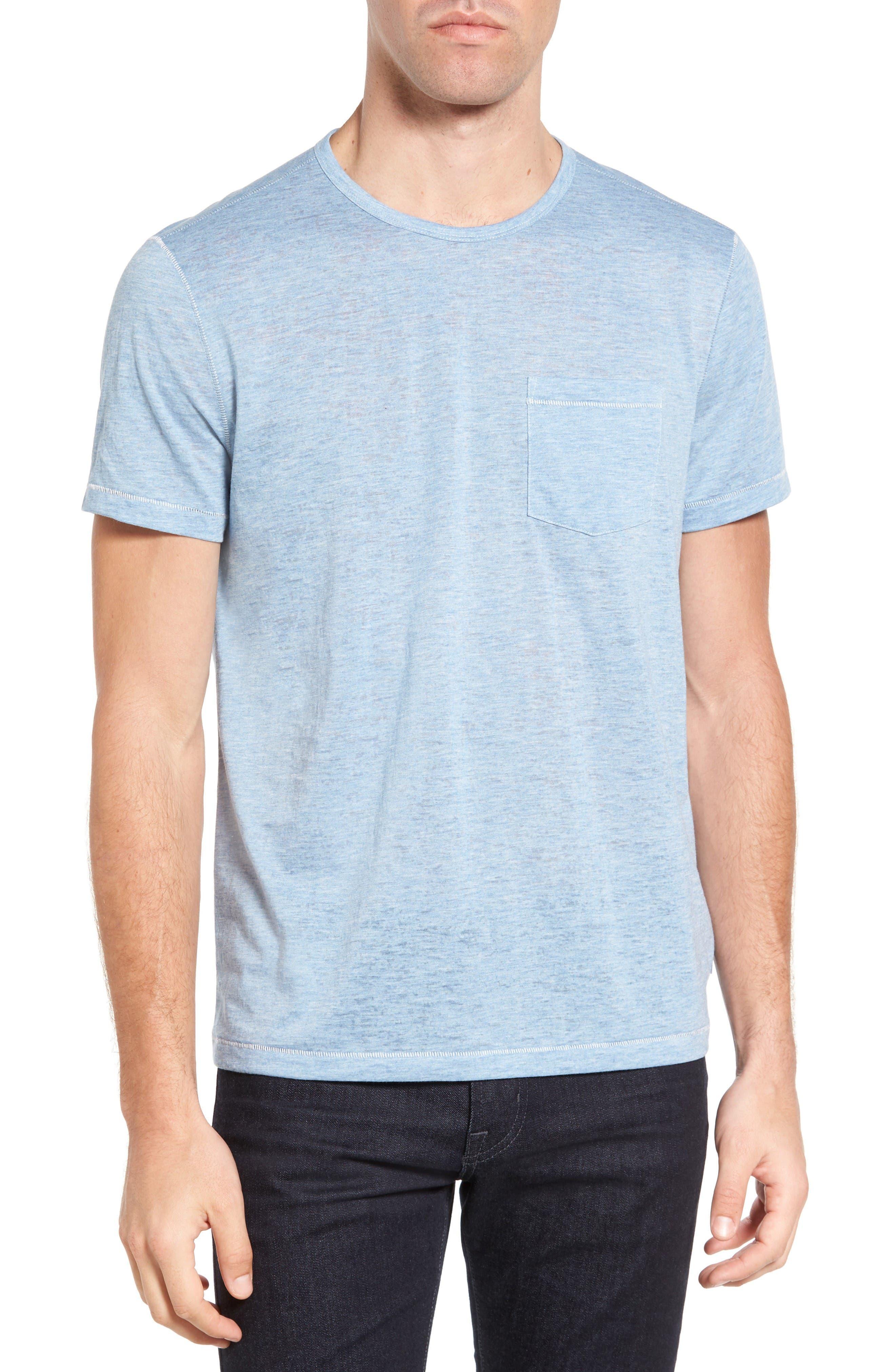 Burnout Trim Fit T-Shirt,                         Main,                         color, Sky