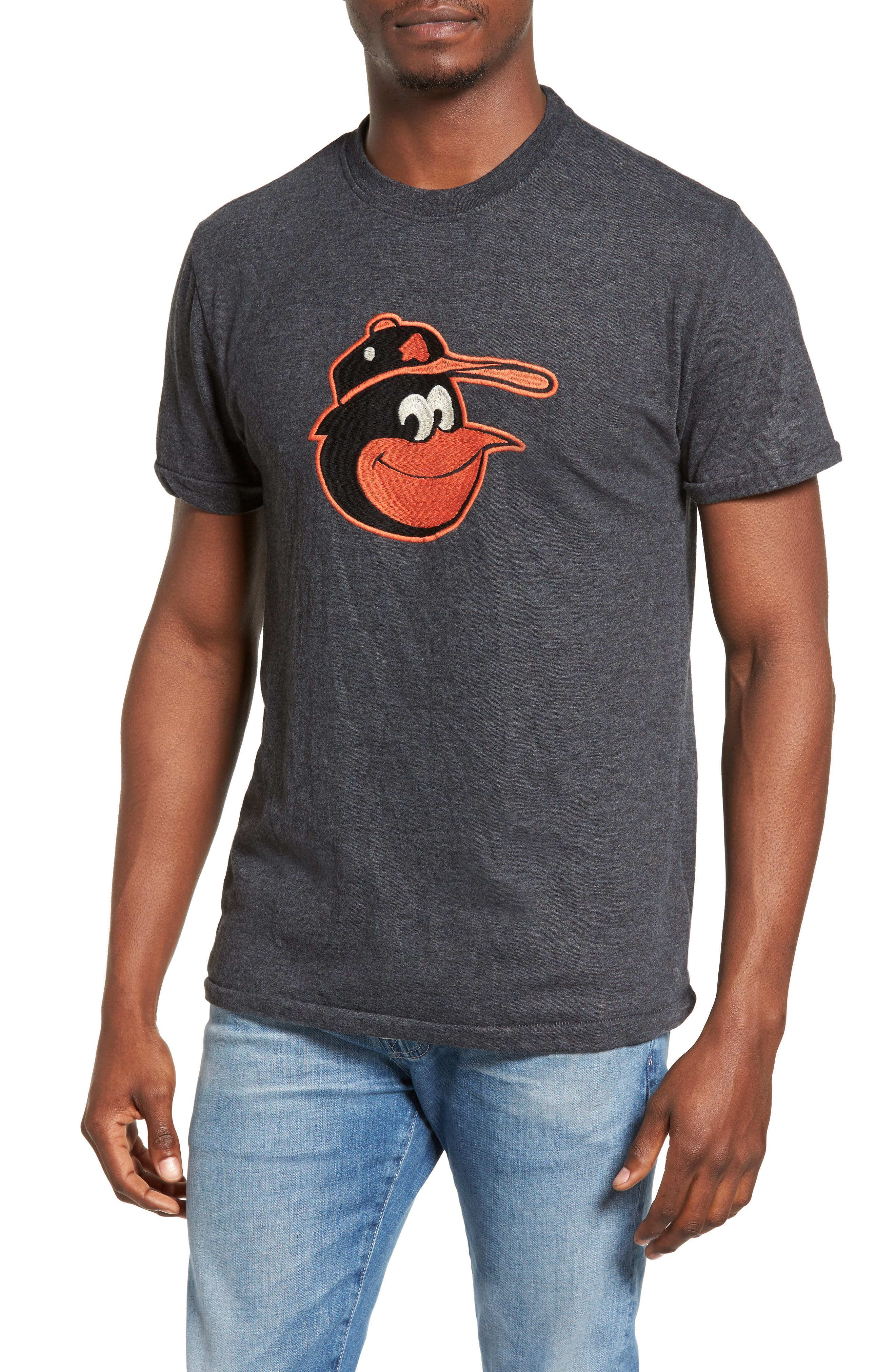 Hillwood Baltimore Orioles T-Shirt,                         Main,                         color, Heather Black