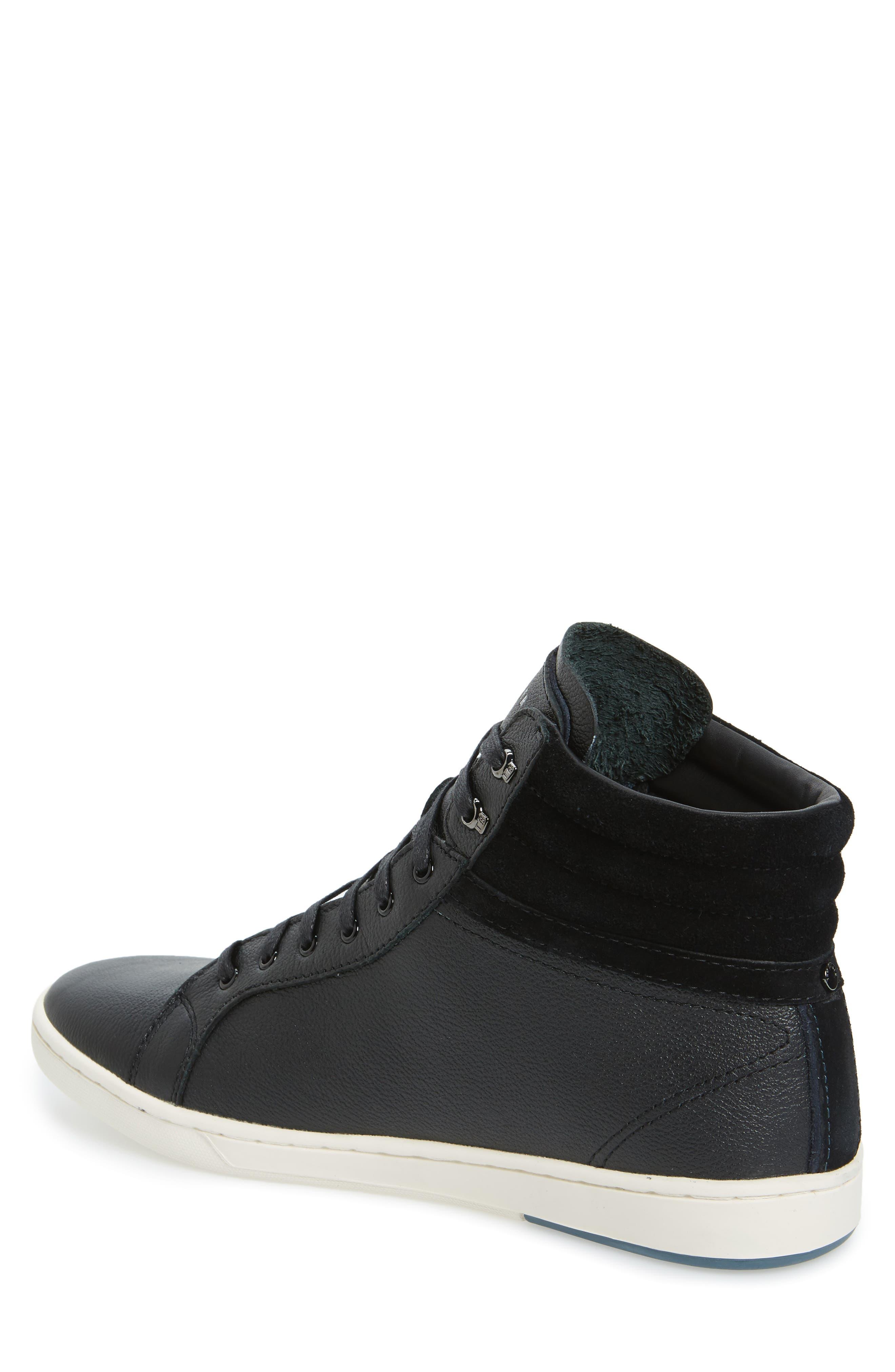 Mykka Sneaker,                             Alternate thumbnail 2, color,                             Black Leather