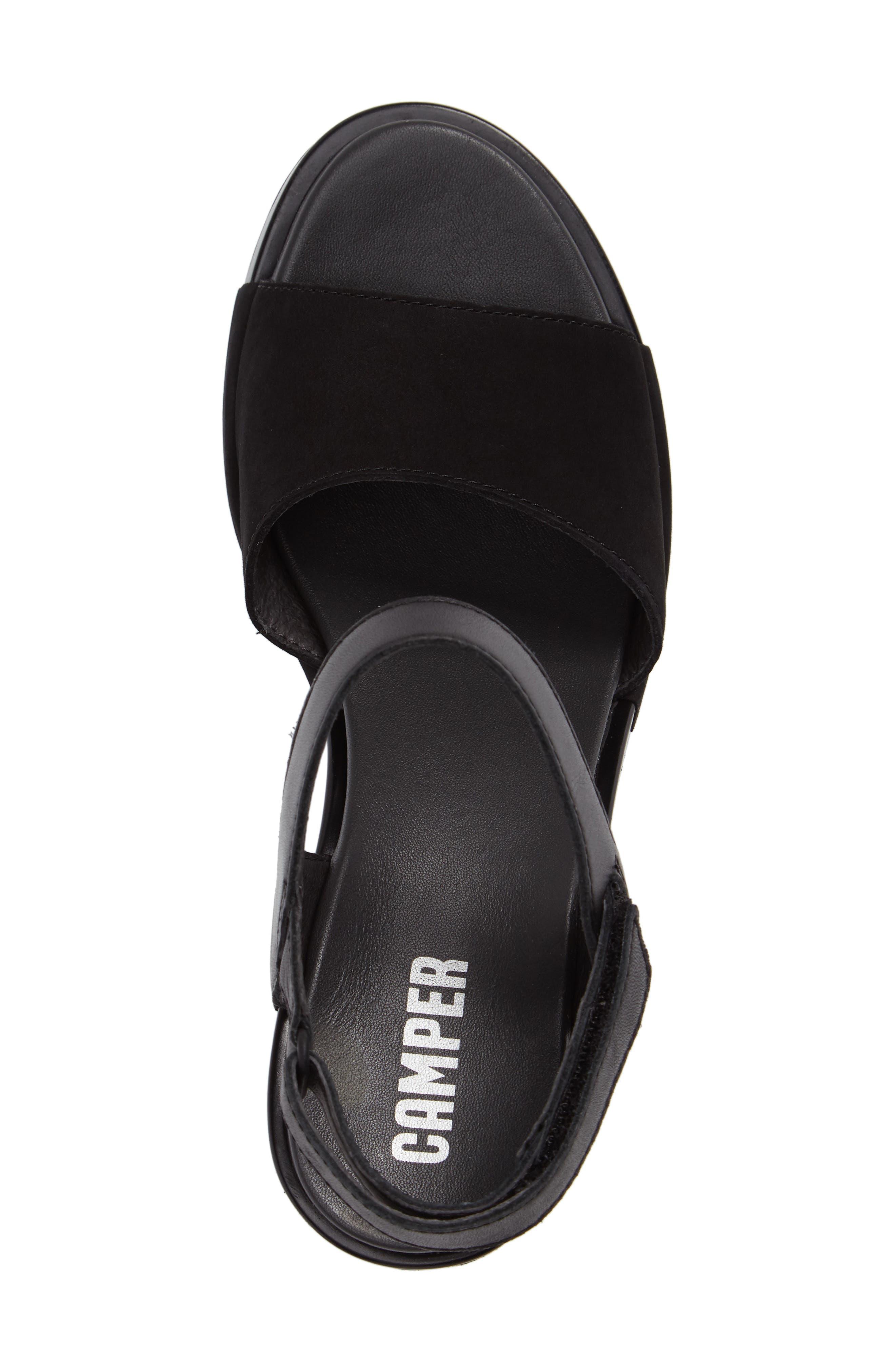 Ivy Ankle Strap Sandal,                             Alternate thumbnail 3, color,                             Black Leather