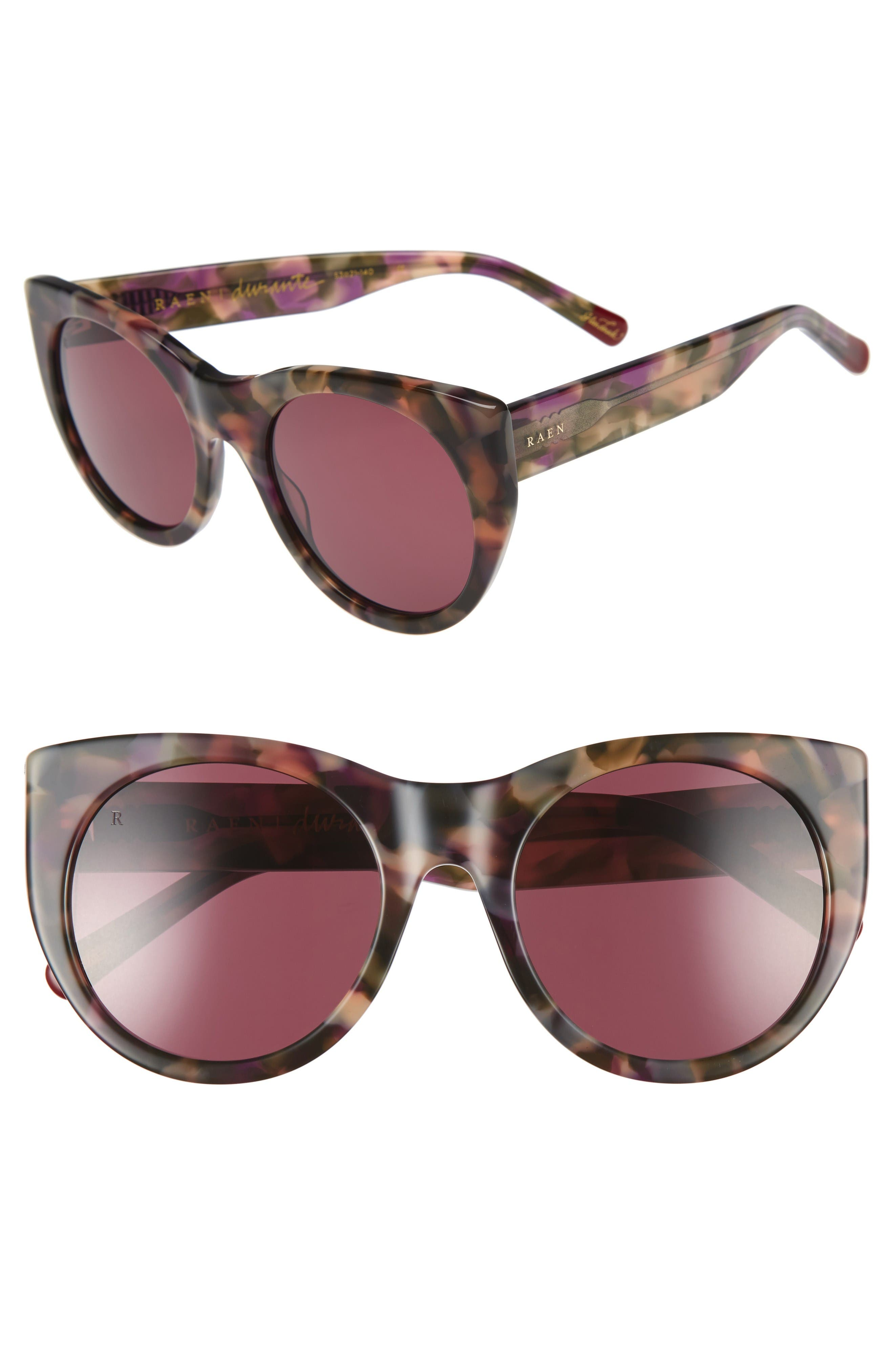Durante 53mm Retro Sunglasses,                         Main,                         color, Wren