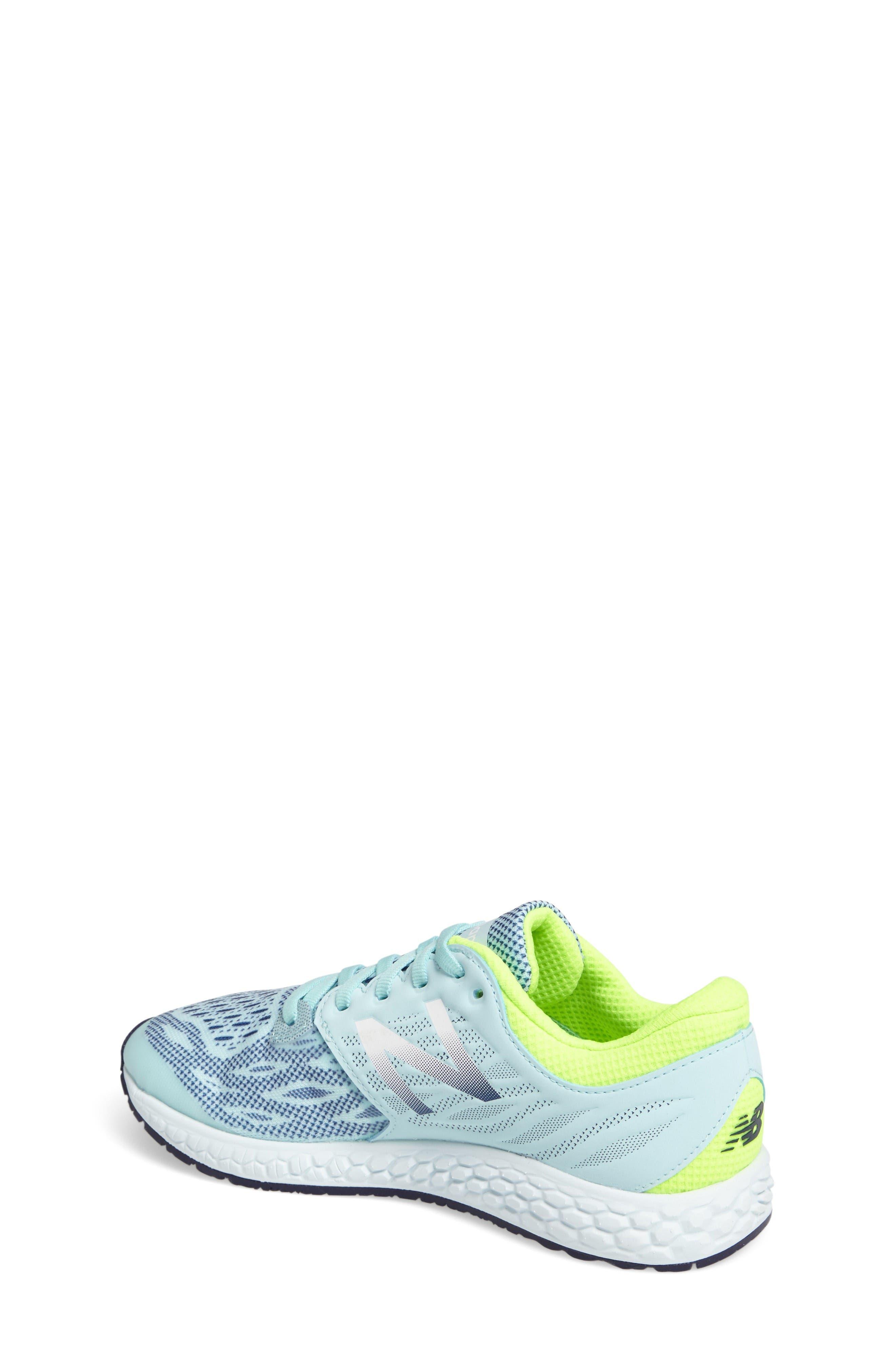 Fresh Foam Sneaker,                             Alternate thumbnail 2, color,                             Teal/Green