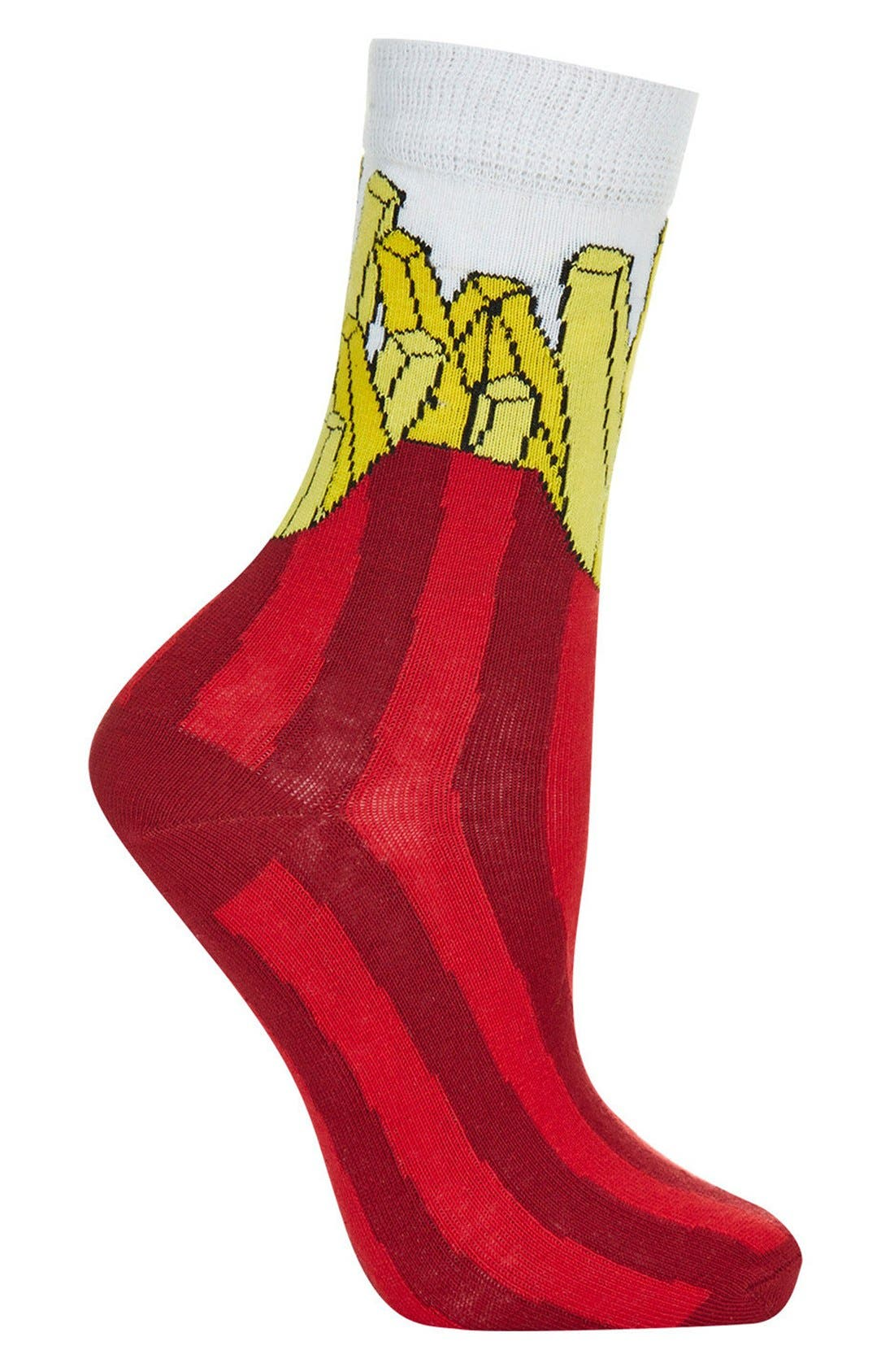 Alternate Image 1 Selected - Topshop Fries Crew Socks