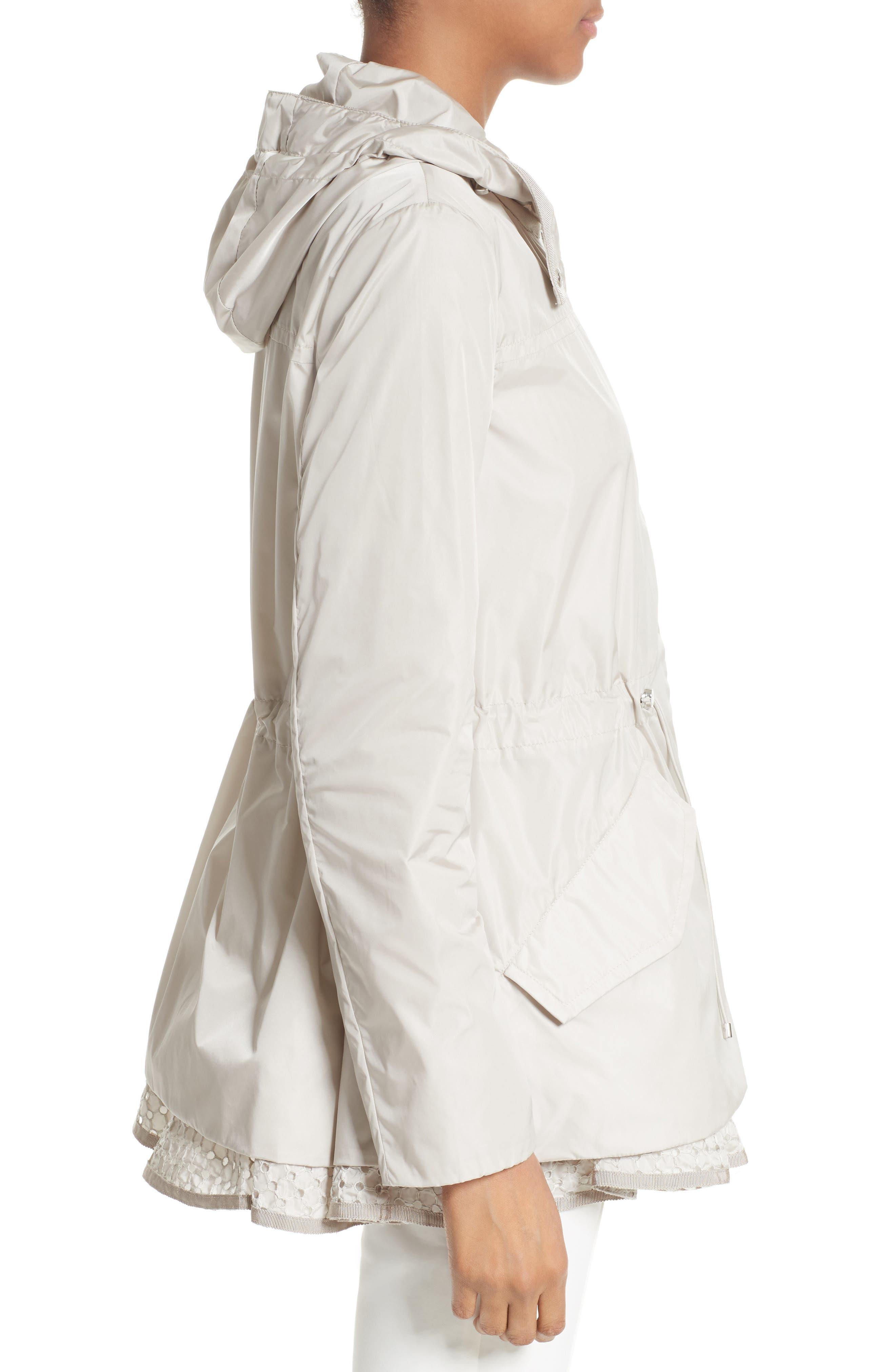 Alternate Image 5  - Moncler Lotus Water Resistant Peplum Raincoat