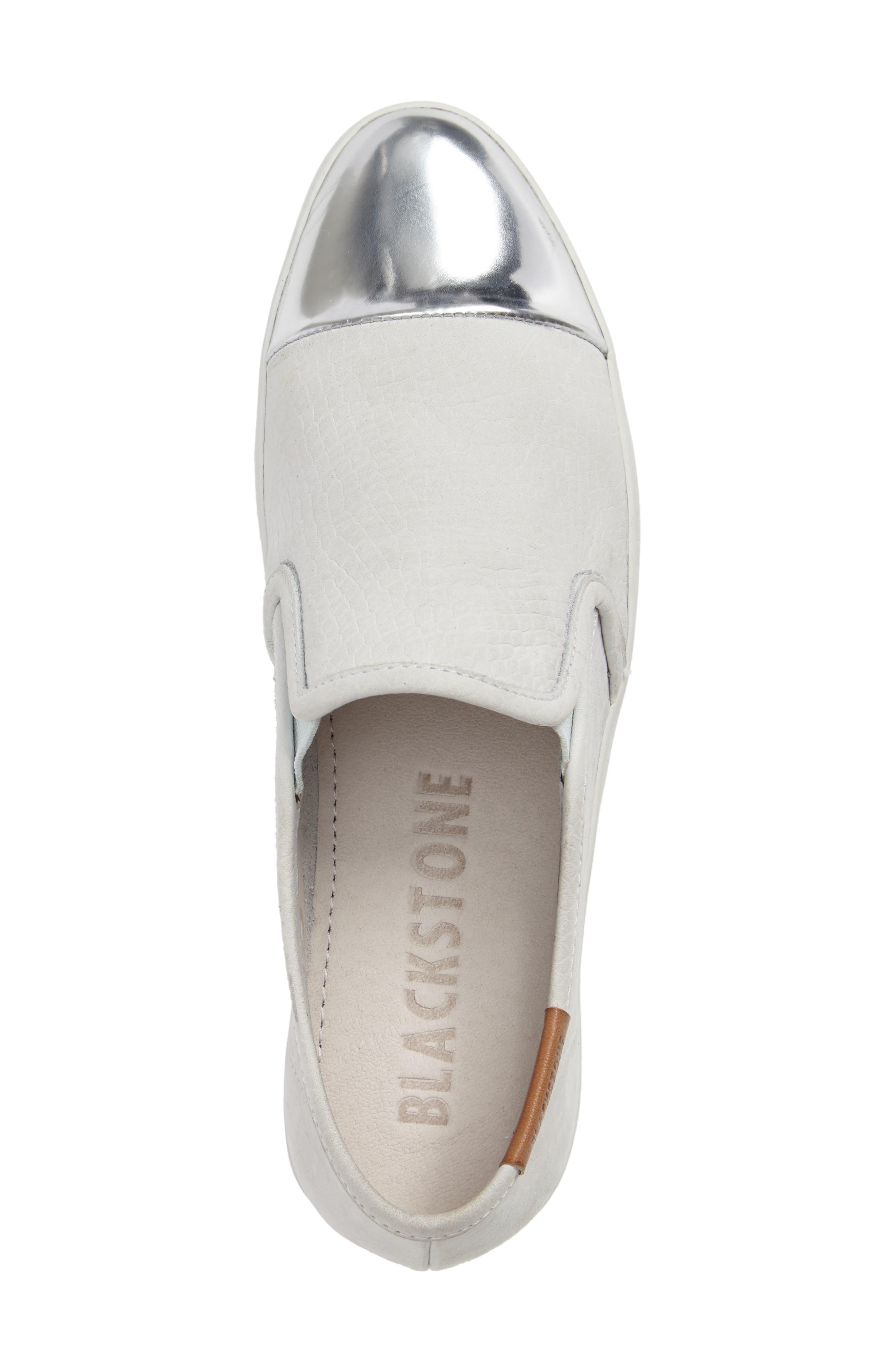 NL47 Slip-On Sneaker,                             Alternate thumbnail 5, color,                             White Nubuck