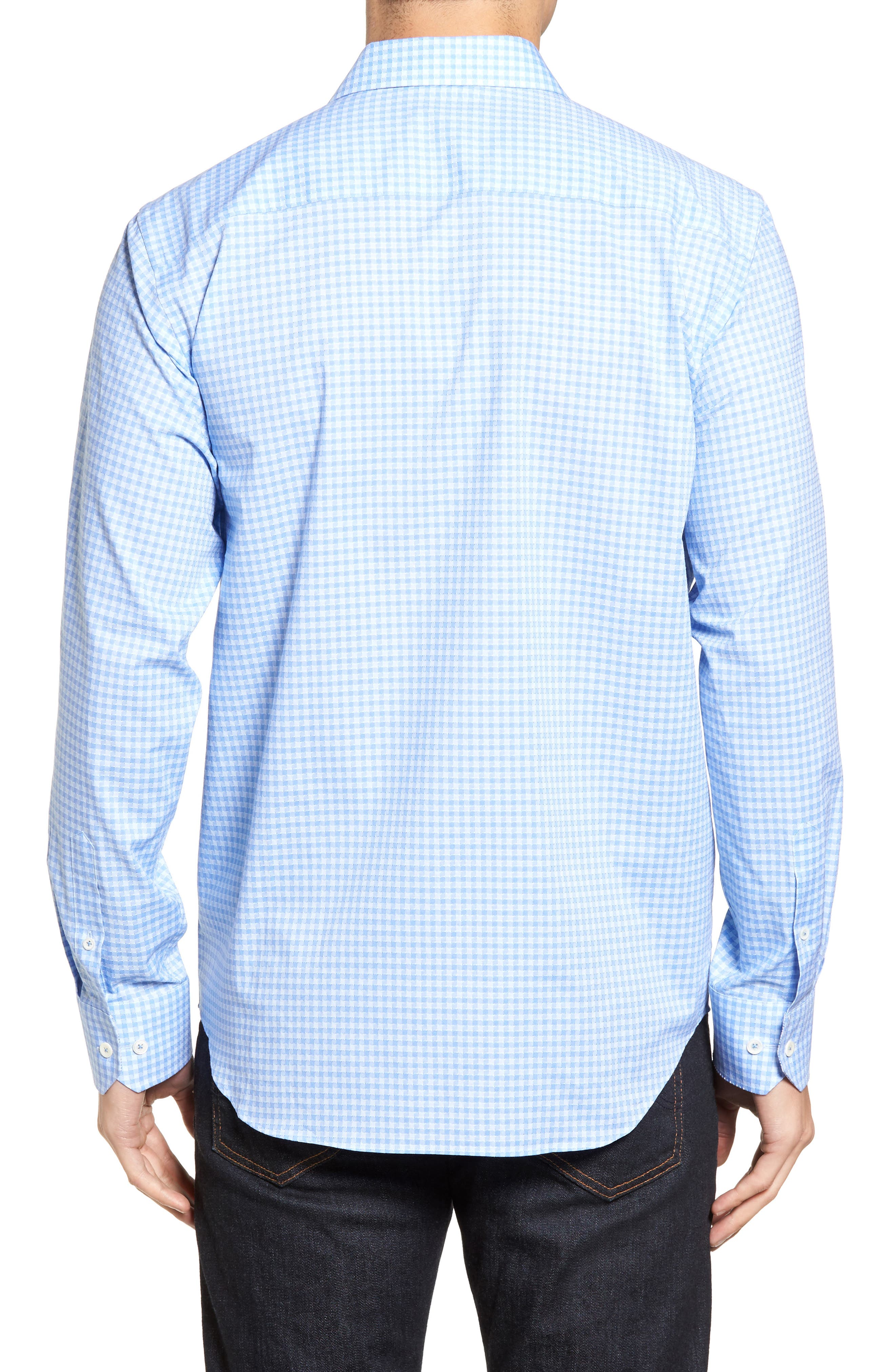 Classic Fit Circle Check Sport Shirt,                             Alternate thumbnail 2, color,                             Air Blue