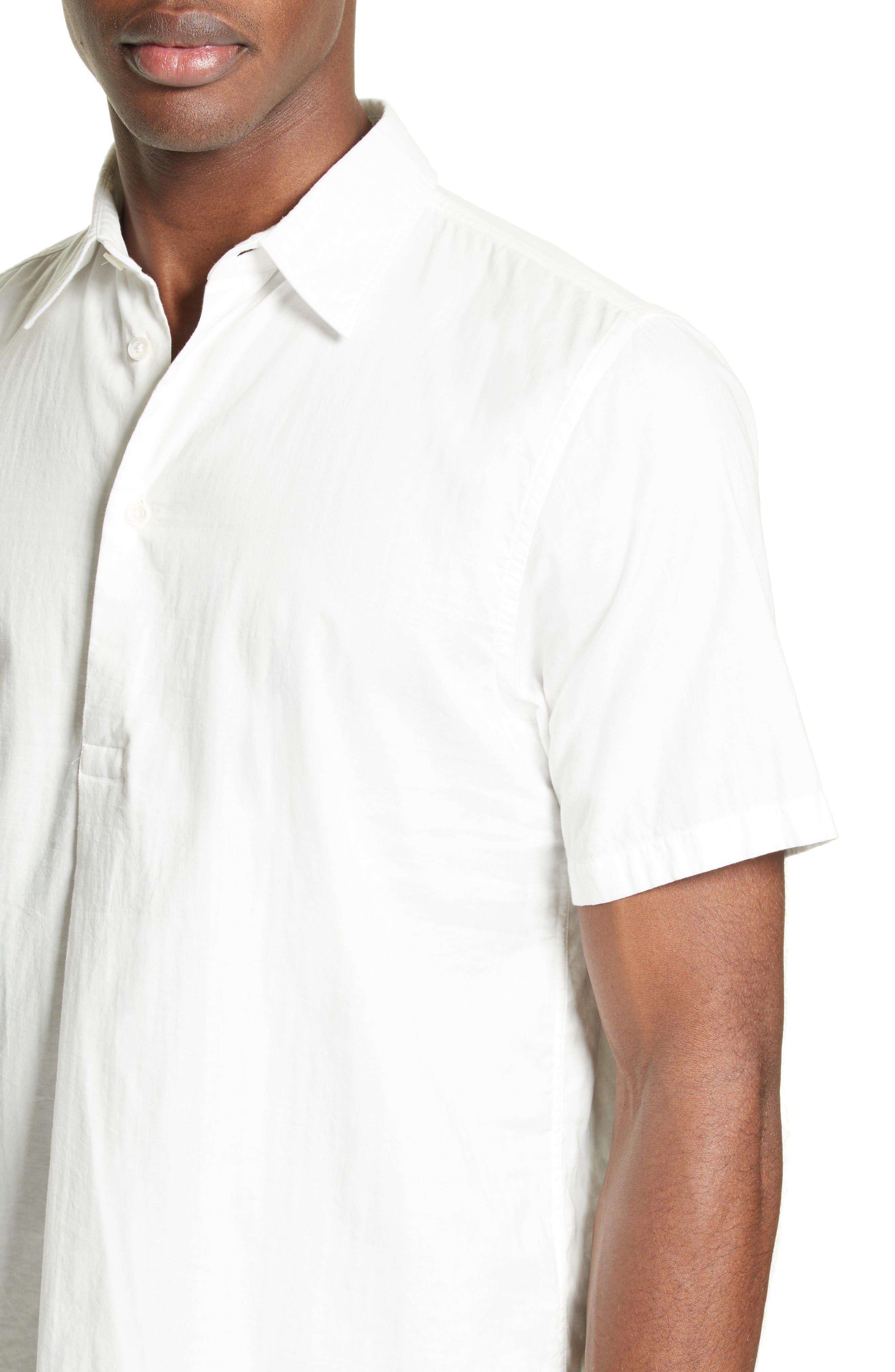 Woven Sport Shirt,                             Alternate thumbnail 4, color,                             White