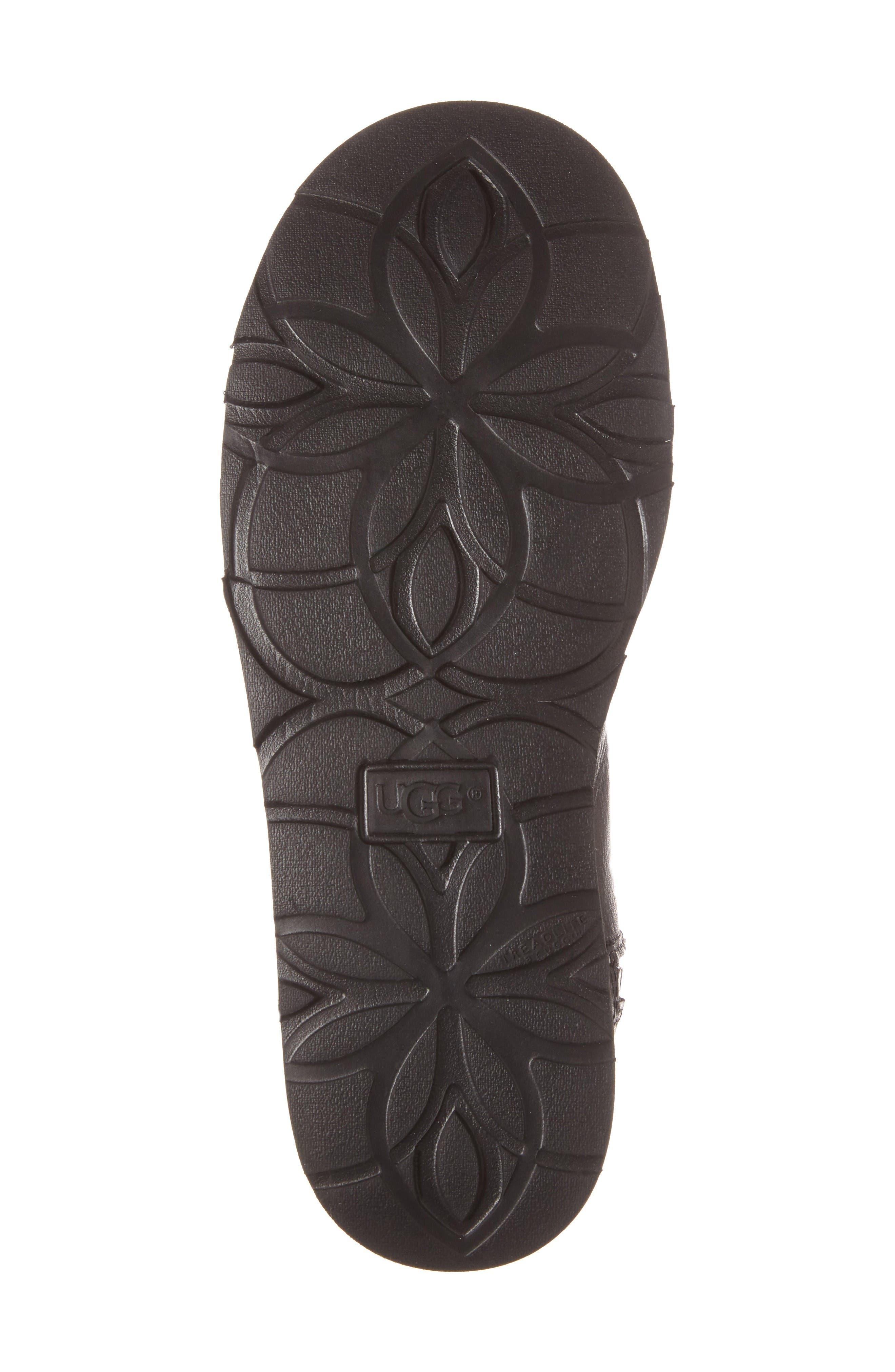 Abree Mini Boot,                             Alternate thumbnail 4, color,                             Black Leather