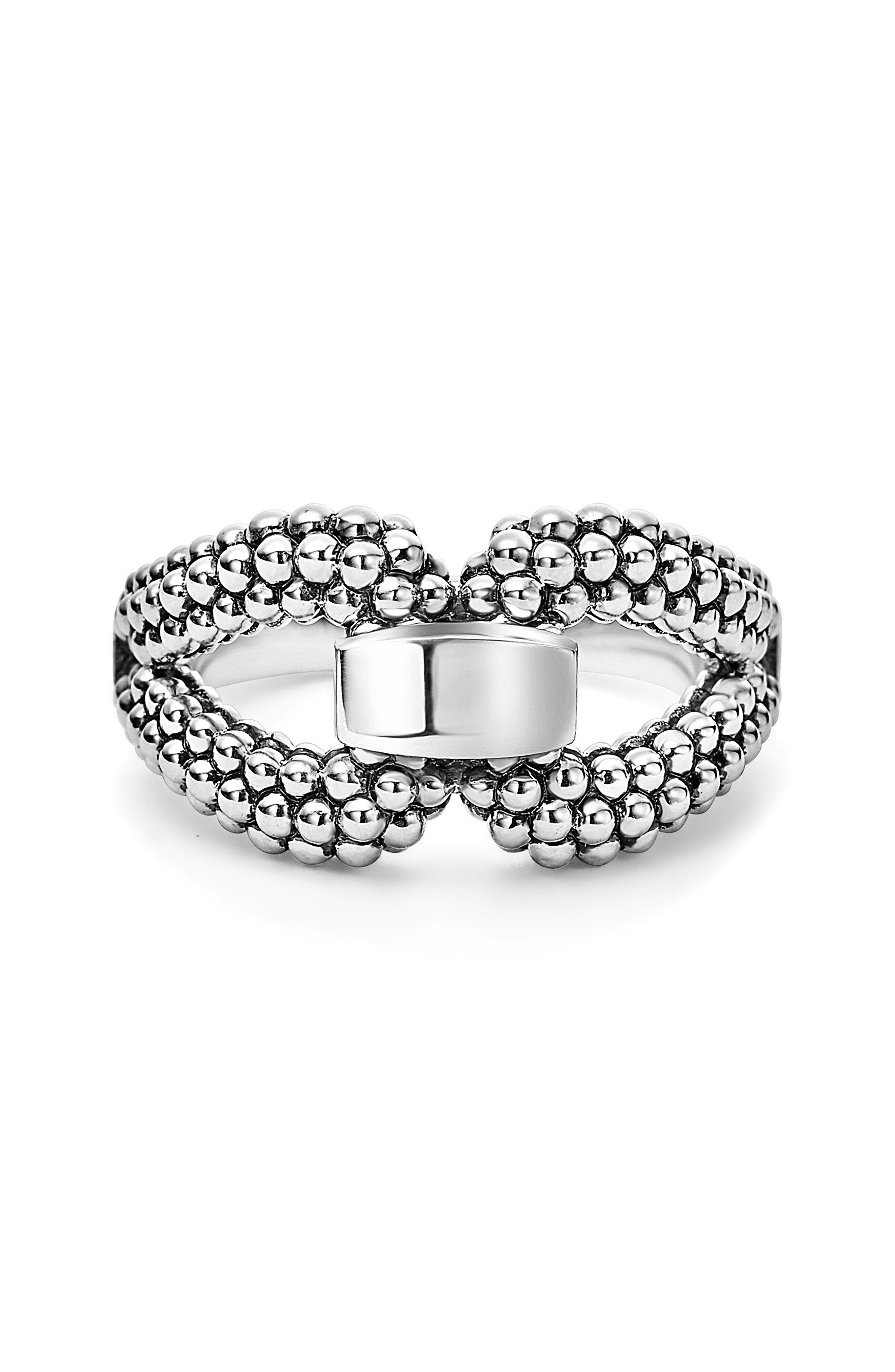 Derby Caviar Ring,                             Alternate thumbnail 3, color,                             Silver