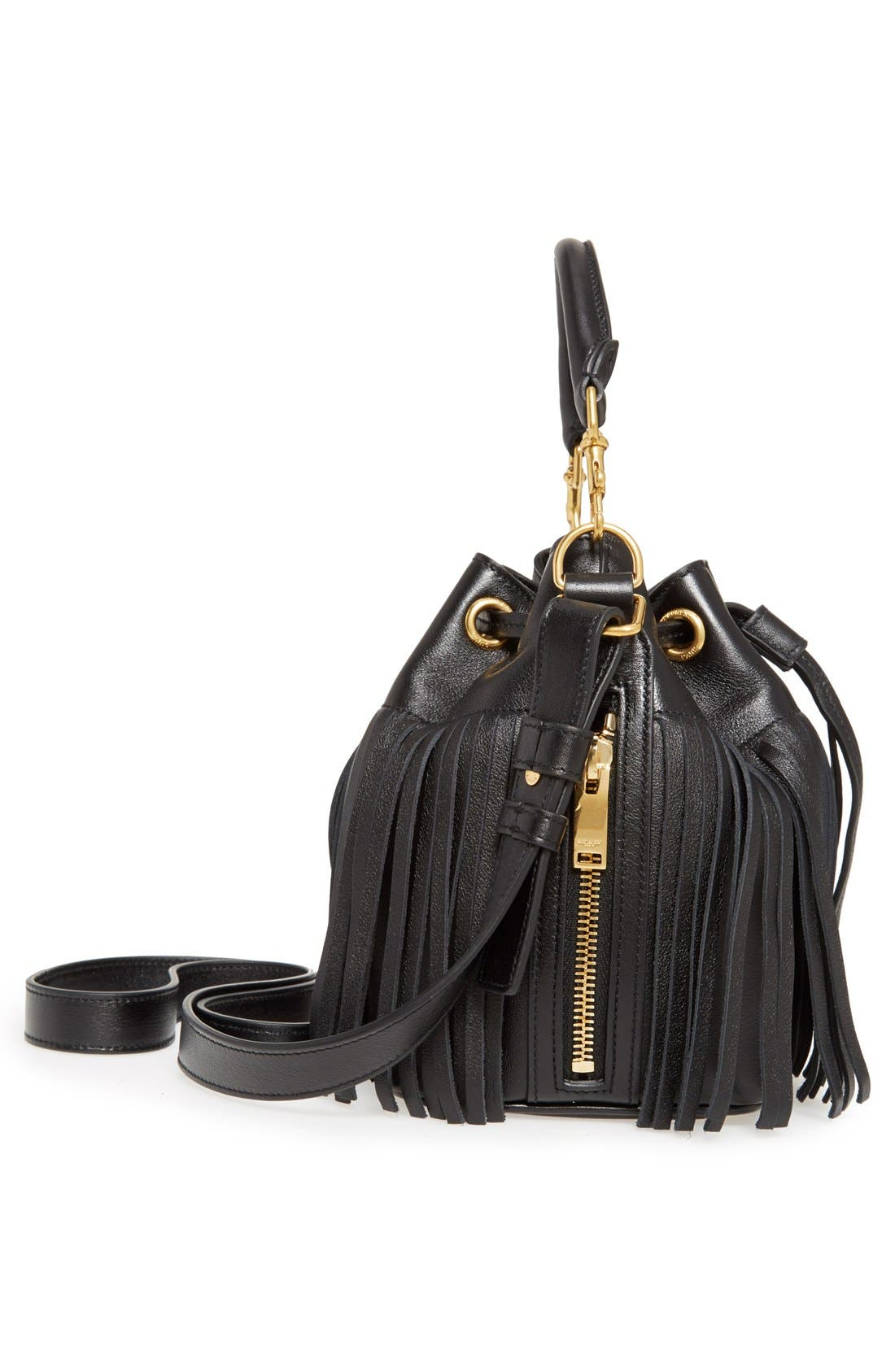 Alternate Image 4  - Saint Laurent Fringe Calfskin Bucket Bag
