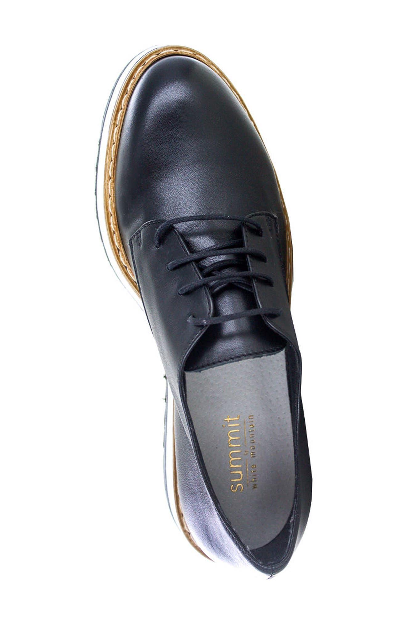 Belinda Platform Oxford,                             Alternate thumbnail 3, color,                             Black Leather
