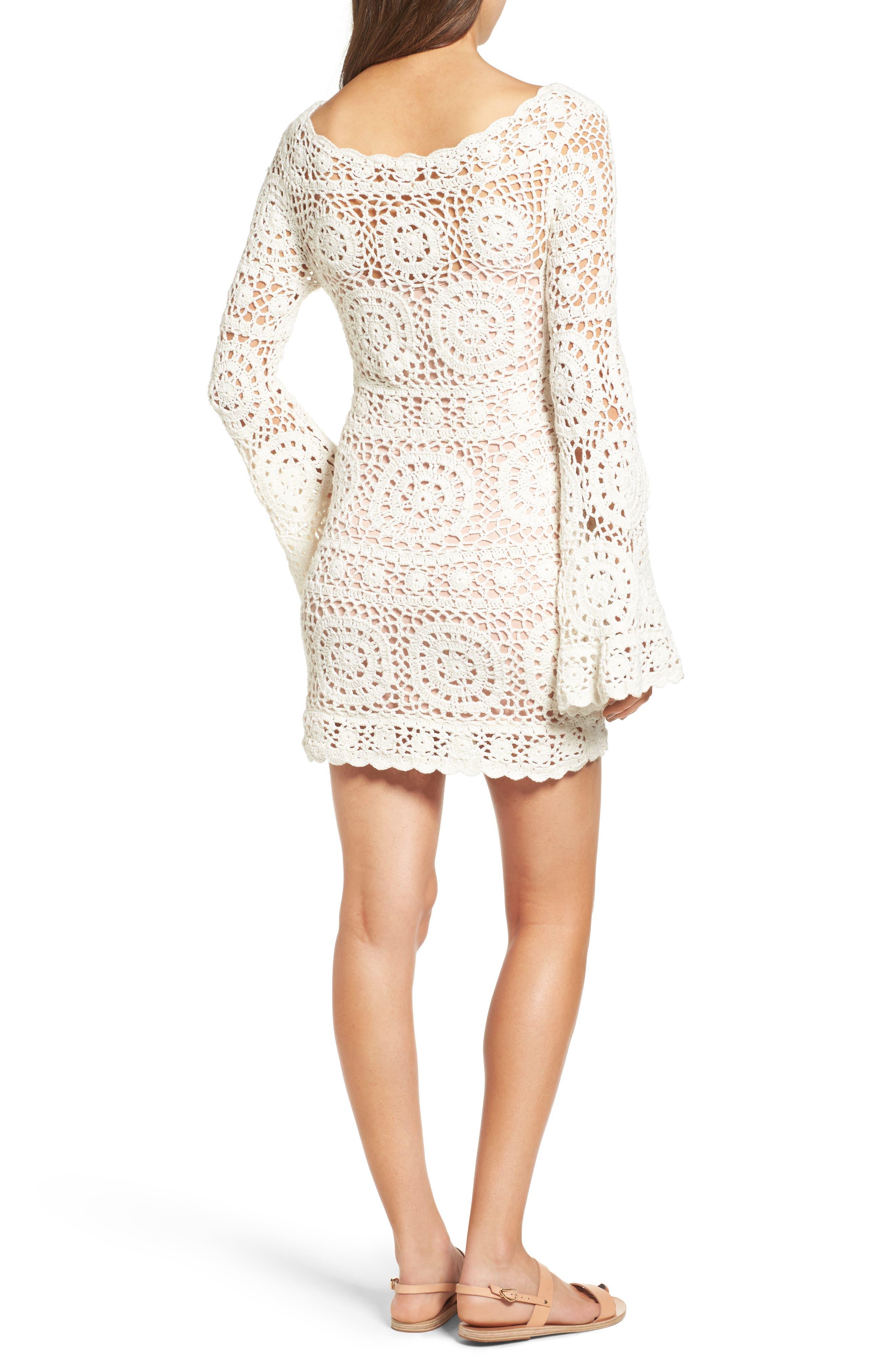 Alternate Image 2  - Majorelle Harvest Crochet Minidress