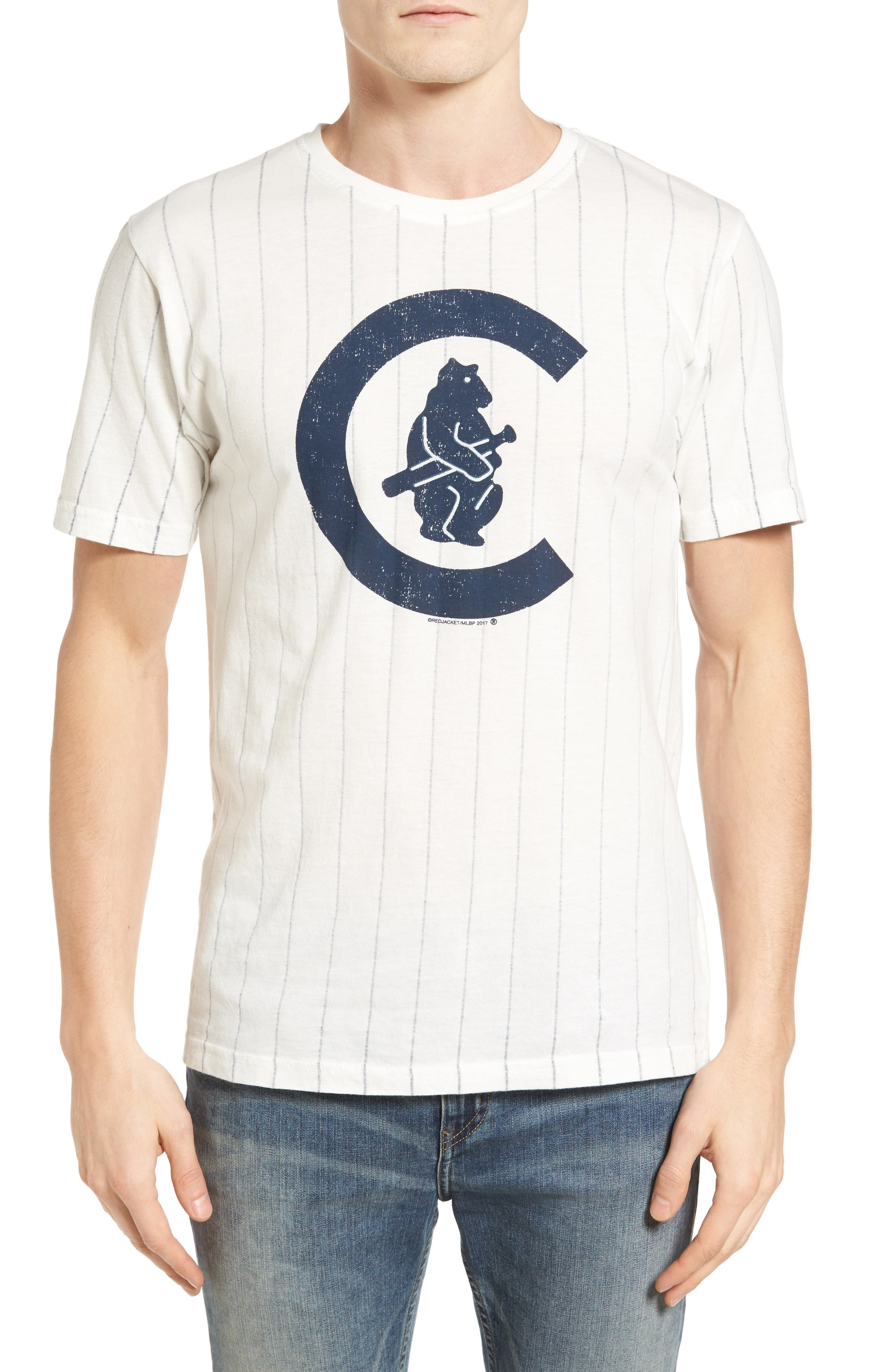 Brass Tack Chicago Cubs T-Shirt,                         Main,                         color, Cream/ Navy