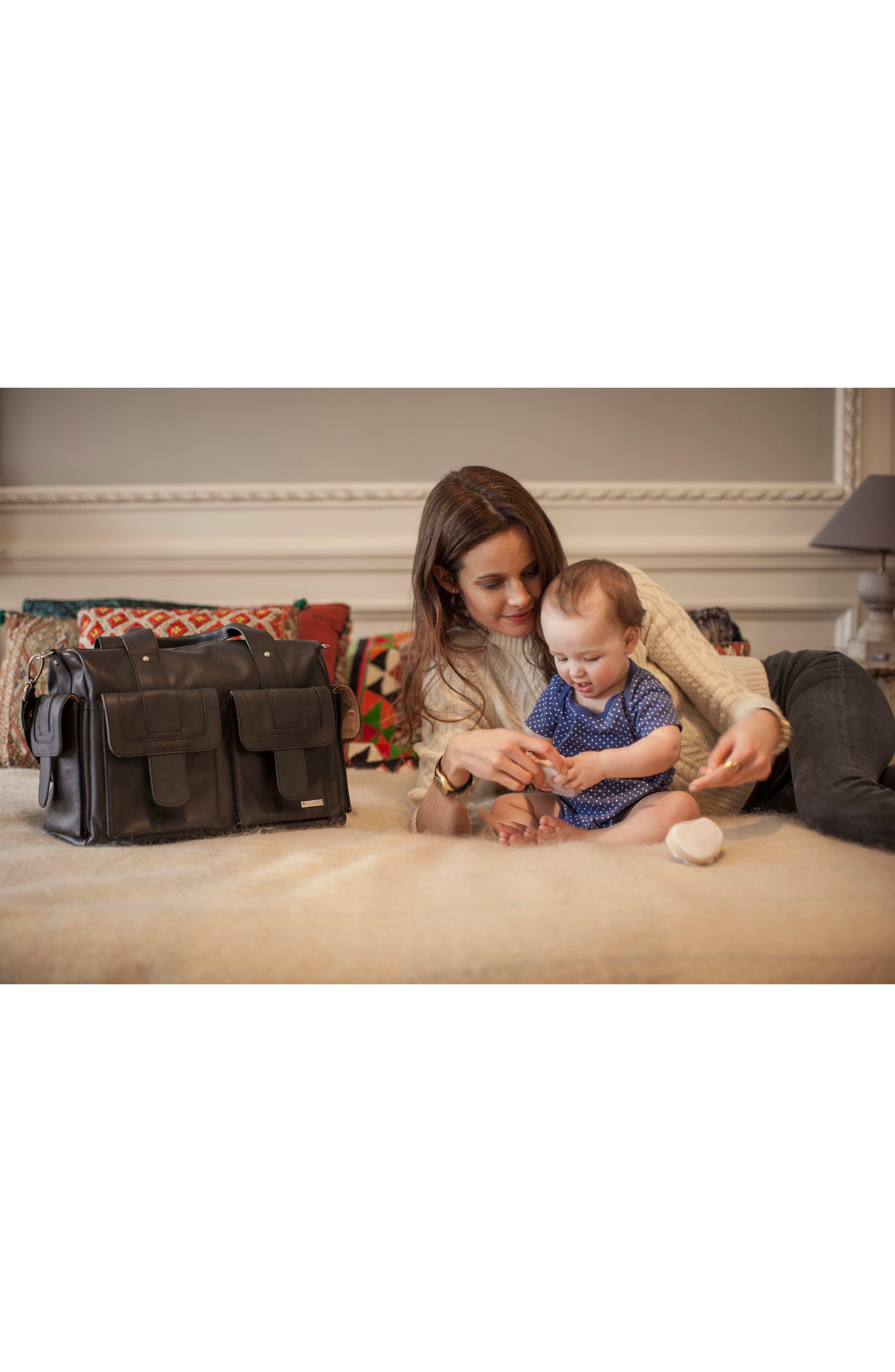 Alternate Image 6  - Storsak 'Sofia' Leather Diaper Bag