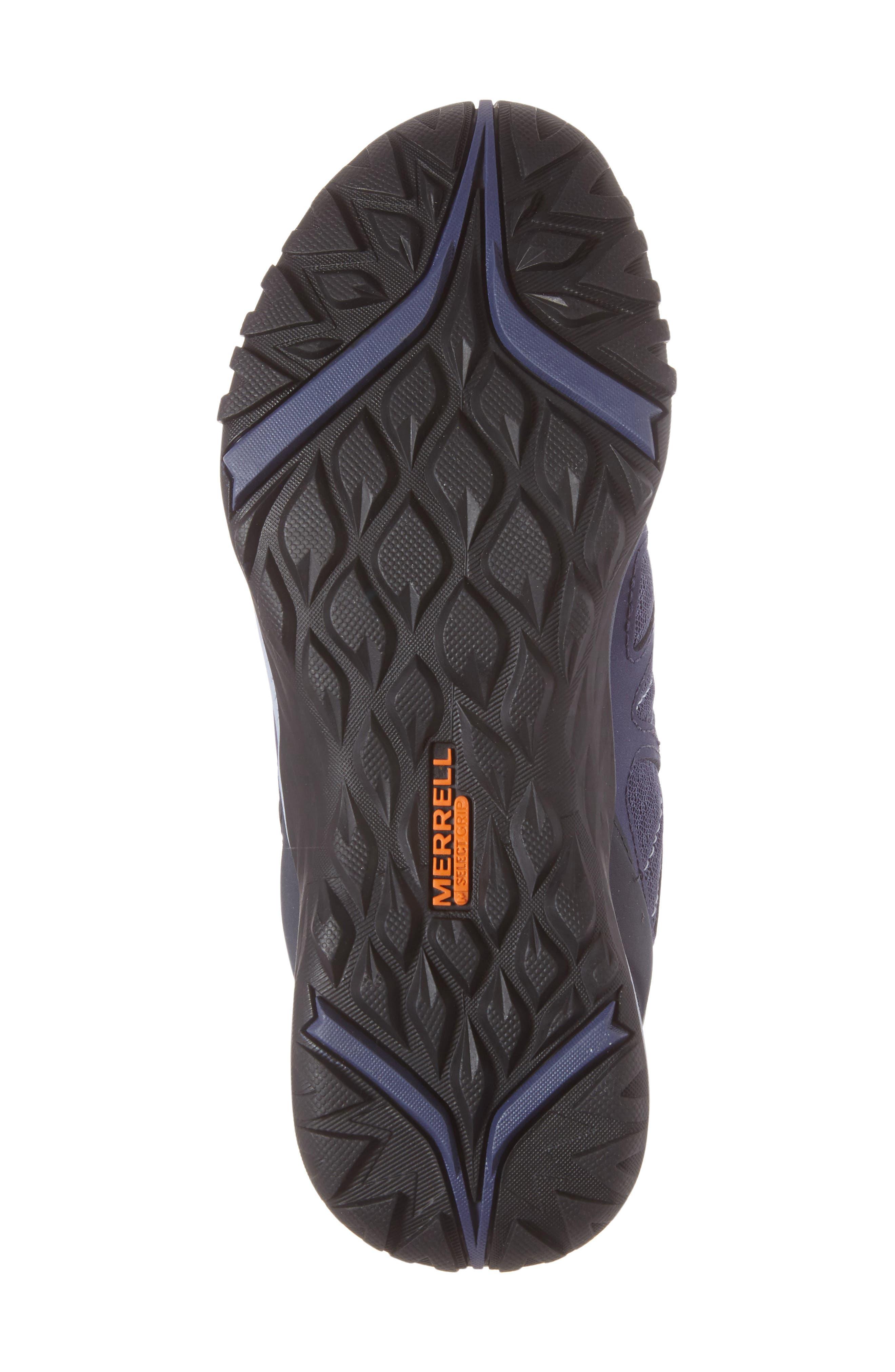 Siren Sport Q2 Waterproof Mid Top Sneaker,                             Alternate thumbnail 6, color,                             Crown Blue Nubuck Leather
