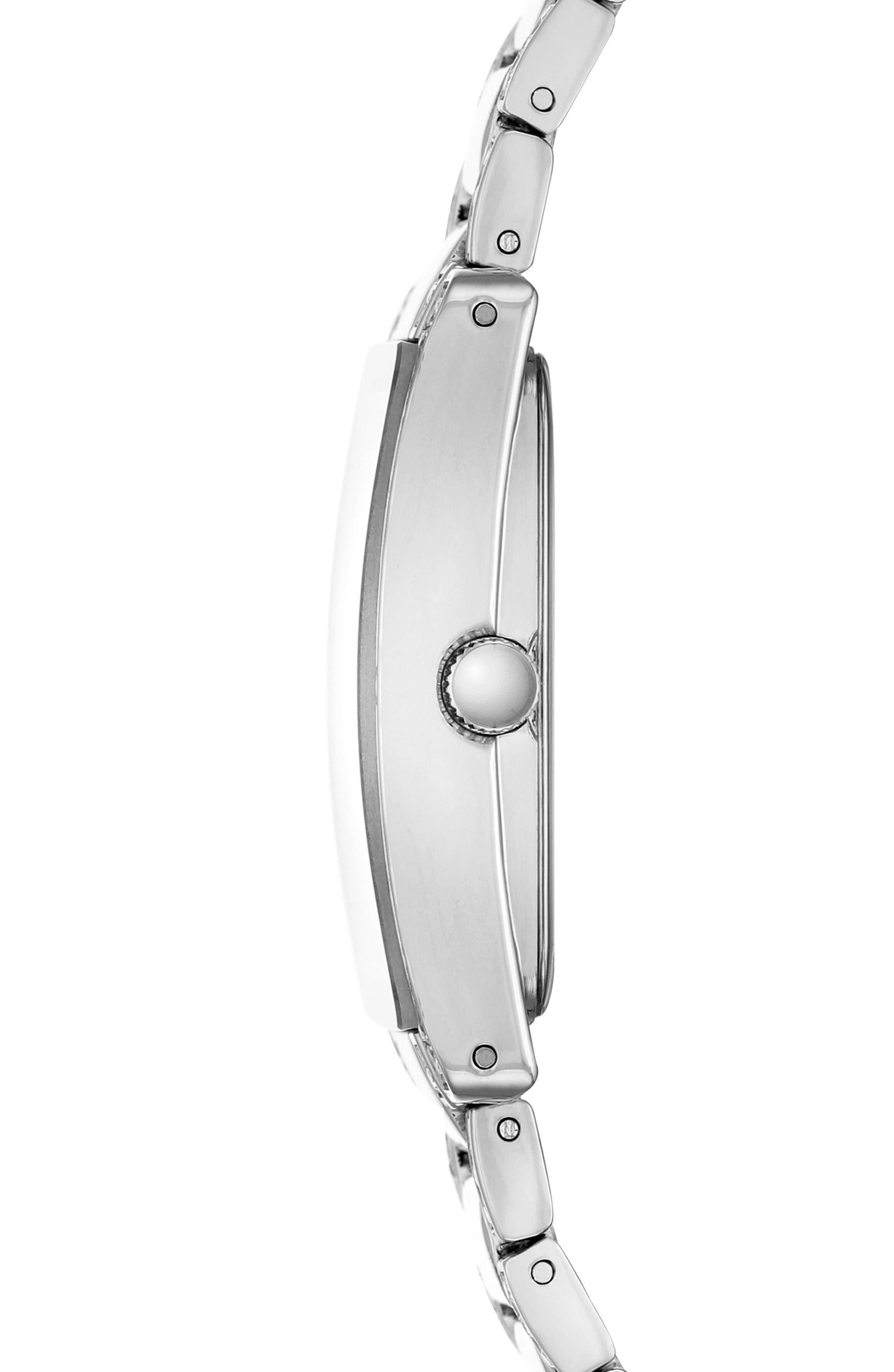 Alternate Image 3  - Anne Klein Crystal Bracelet Watch, 28mm x 35mm